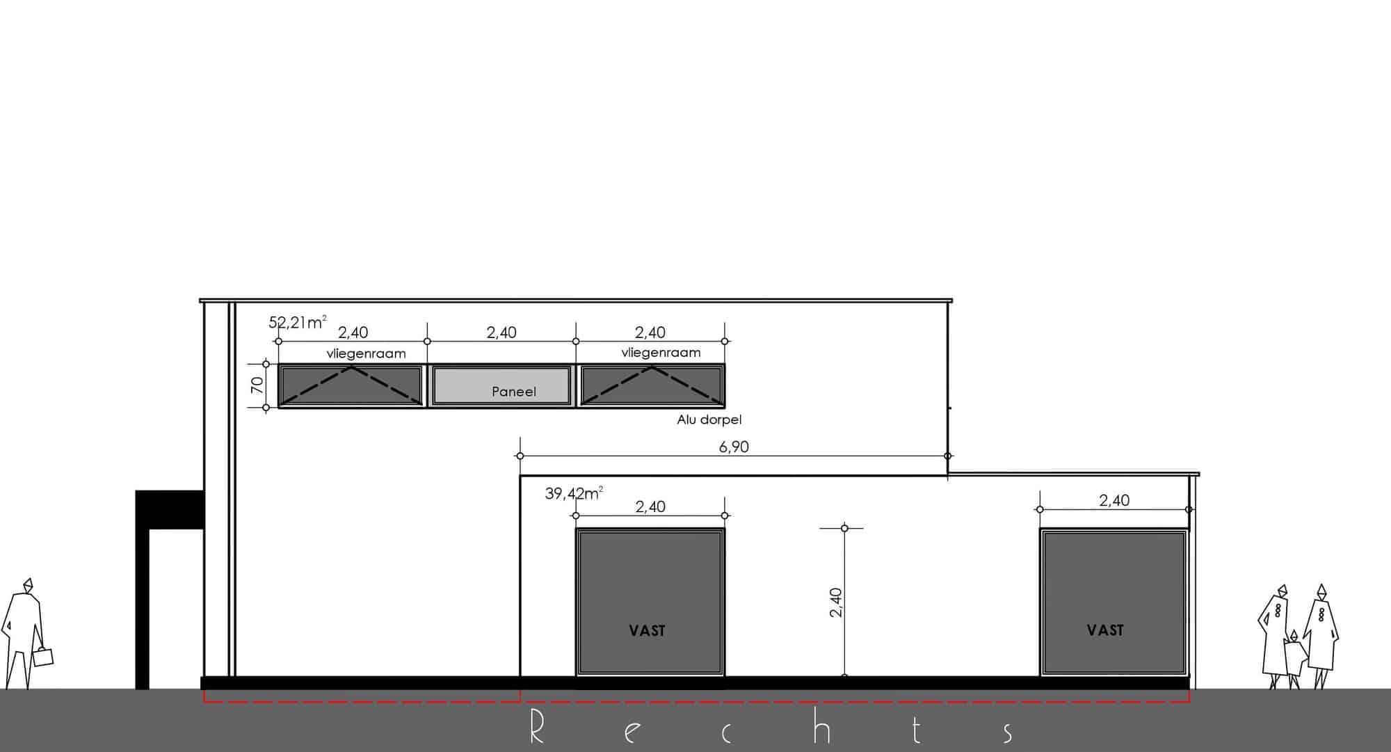 Detail afbeelding 6 van ST CR   –   Zeer strakke gepleisterde woning  –   Opglabbeek | Ontwerp door architect Patrick Strackx