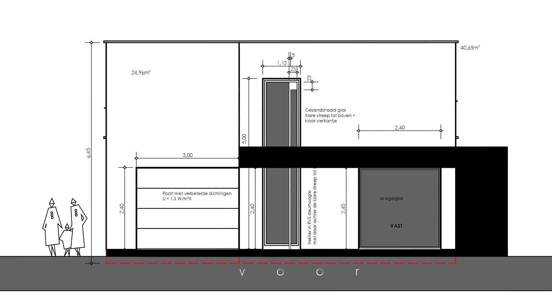 Detail afbeelding 5 van ST CR   –   Zeer strakke gepleisterde woning  –   Opglabbeek | Ontwerp door architect Patrick Strackx