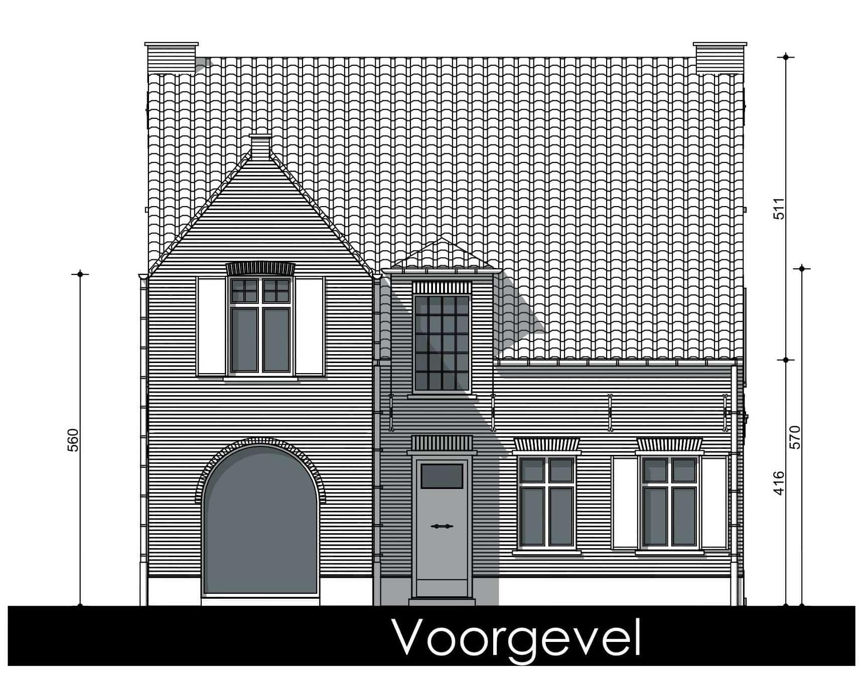 Detail afbeelding 6 van S & C   –   Gezinswoning met kapsalon   –   Genk | Ontwerp door architect Patrick Strackx
