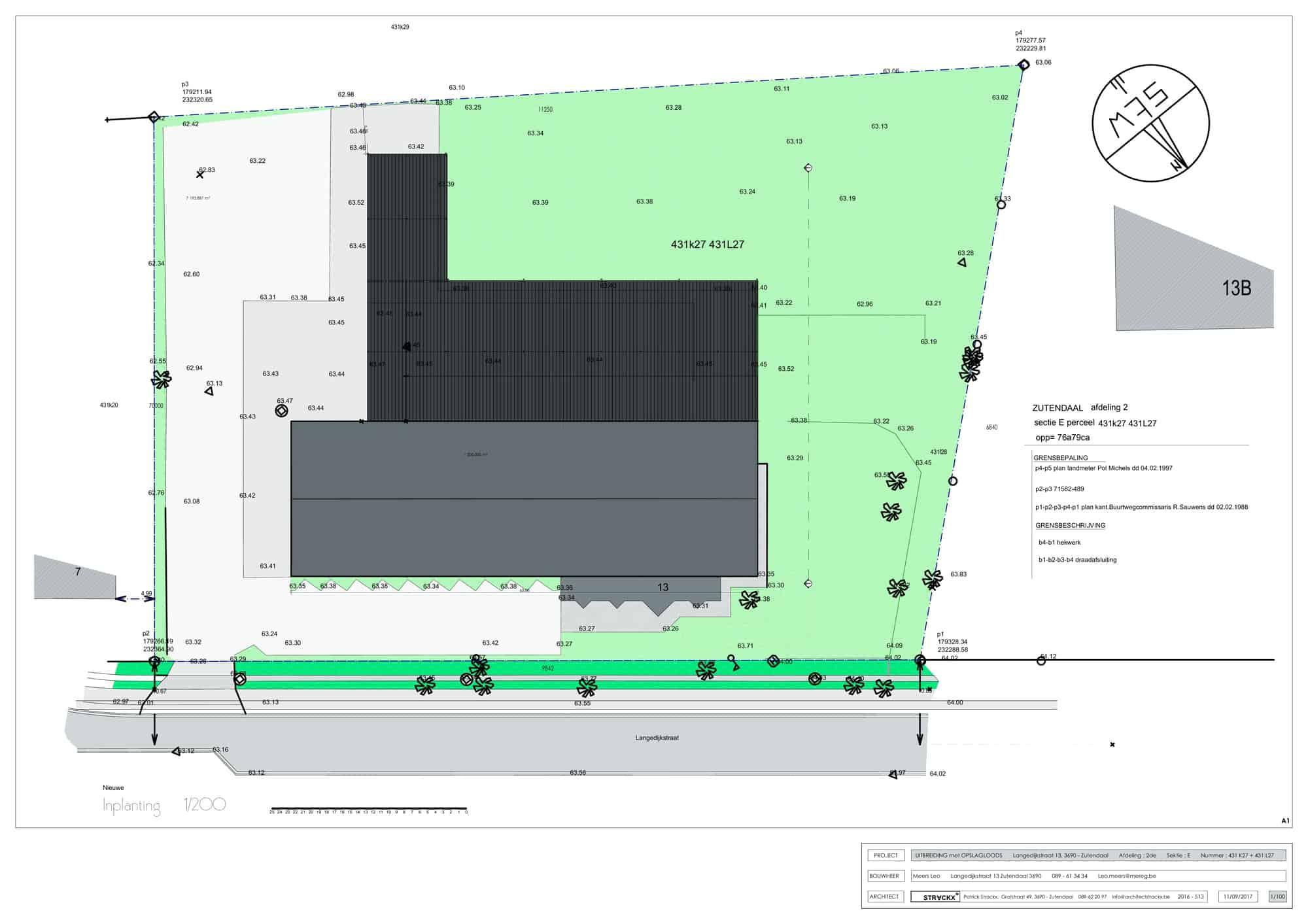 Detail afbeelding 1 van MZ   –  Uitbreiding industrie loods   –   Zutendaal | Ontwerp door architect Patrick Strackx