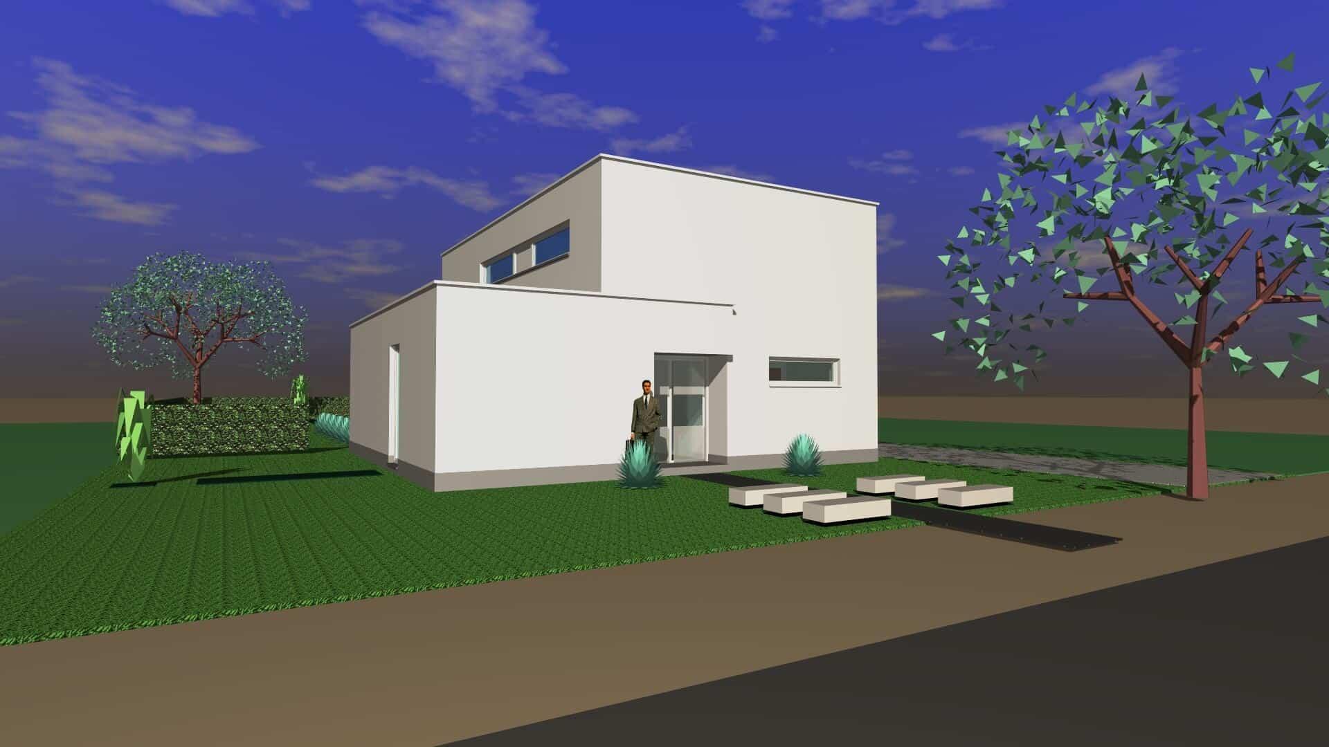 Detail afbeelding 2 van B & M   –   Strakke Gezinwoning   –   Genk | Ontwerp door architect Patrick Strackx