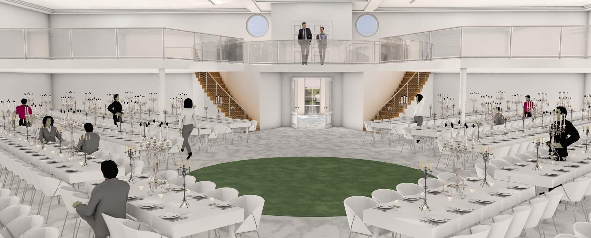 Detail afbeelding 7 van BEJAZ SARAY – ontmoetingscentrum   Ontwerp door architect Patrick Strackx