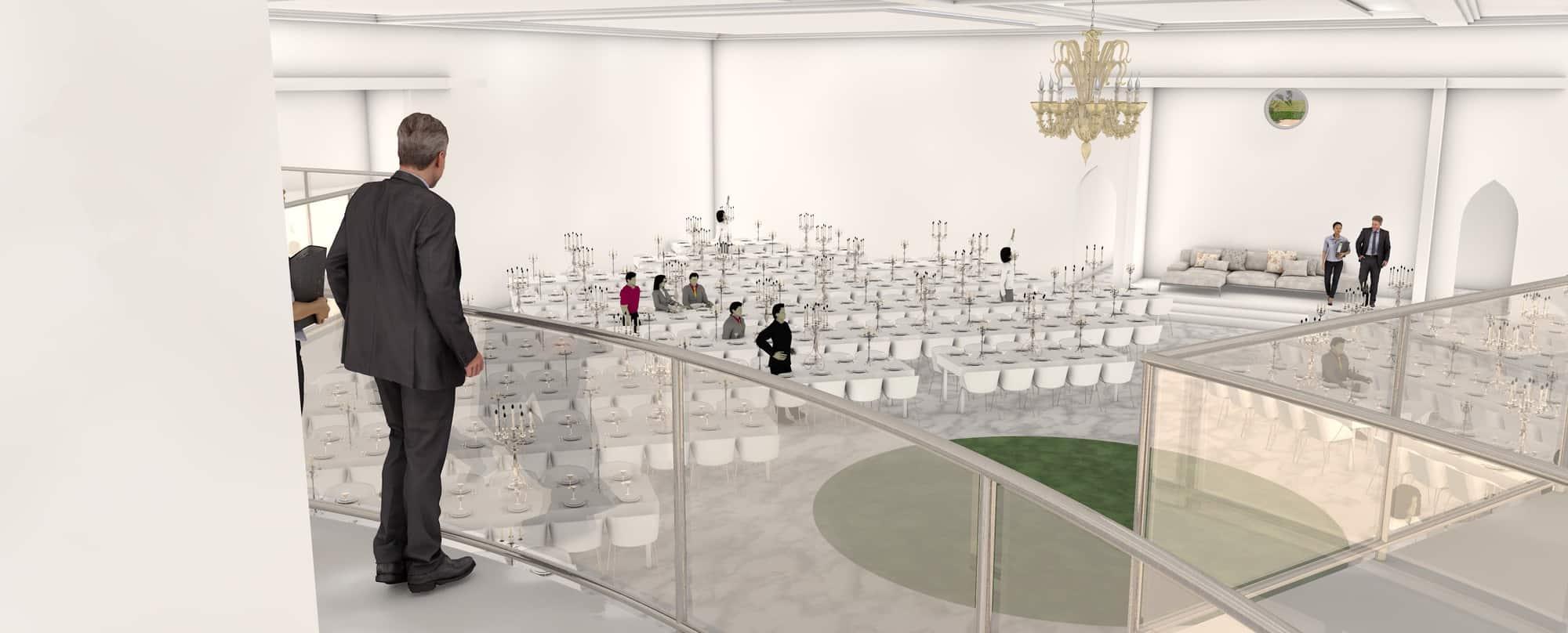 Detail afbeelding 6 van BEJAZ SARAY – ontmoetingscentrum   Ontwerp door architect Patrick Strackx