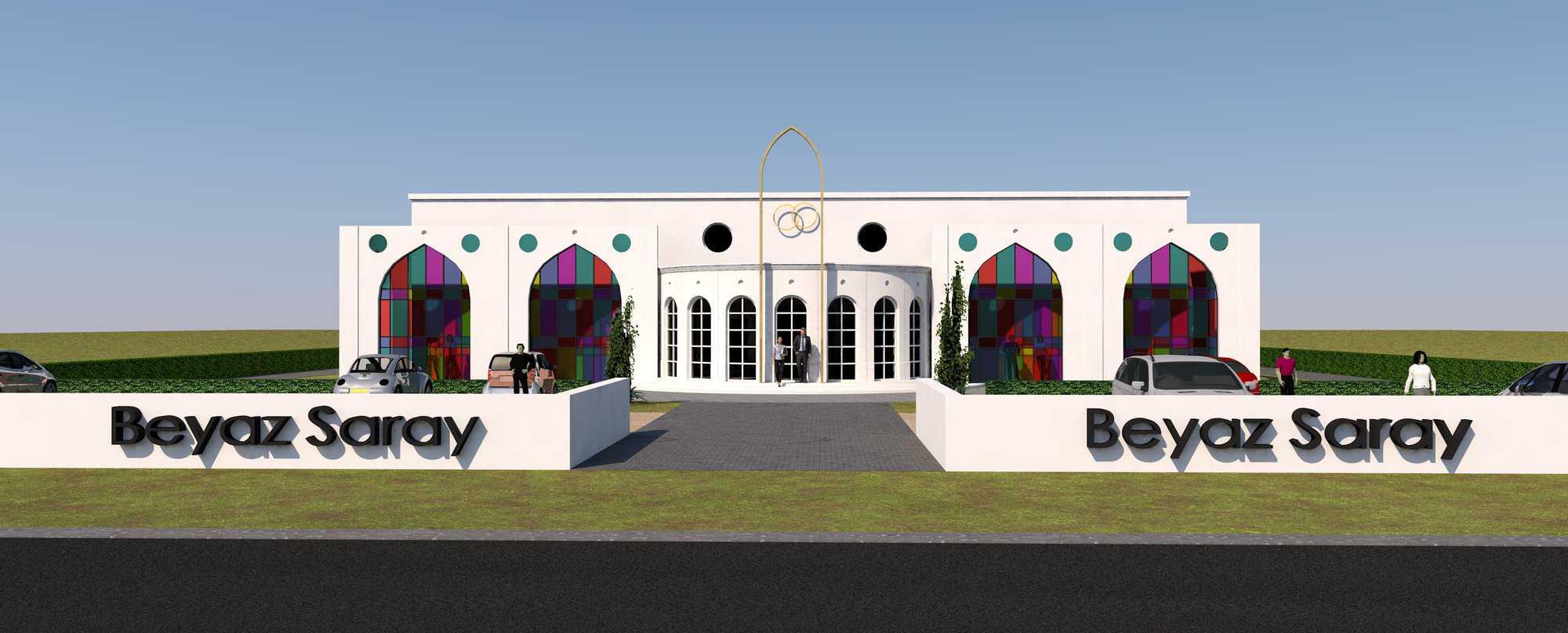 Detail afbeelding 4 van BEJAZ SARAY – ontmoetingscentrum   Ontwerp door architect Patrick Strackx