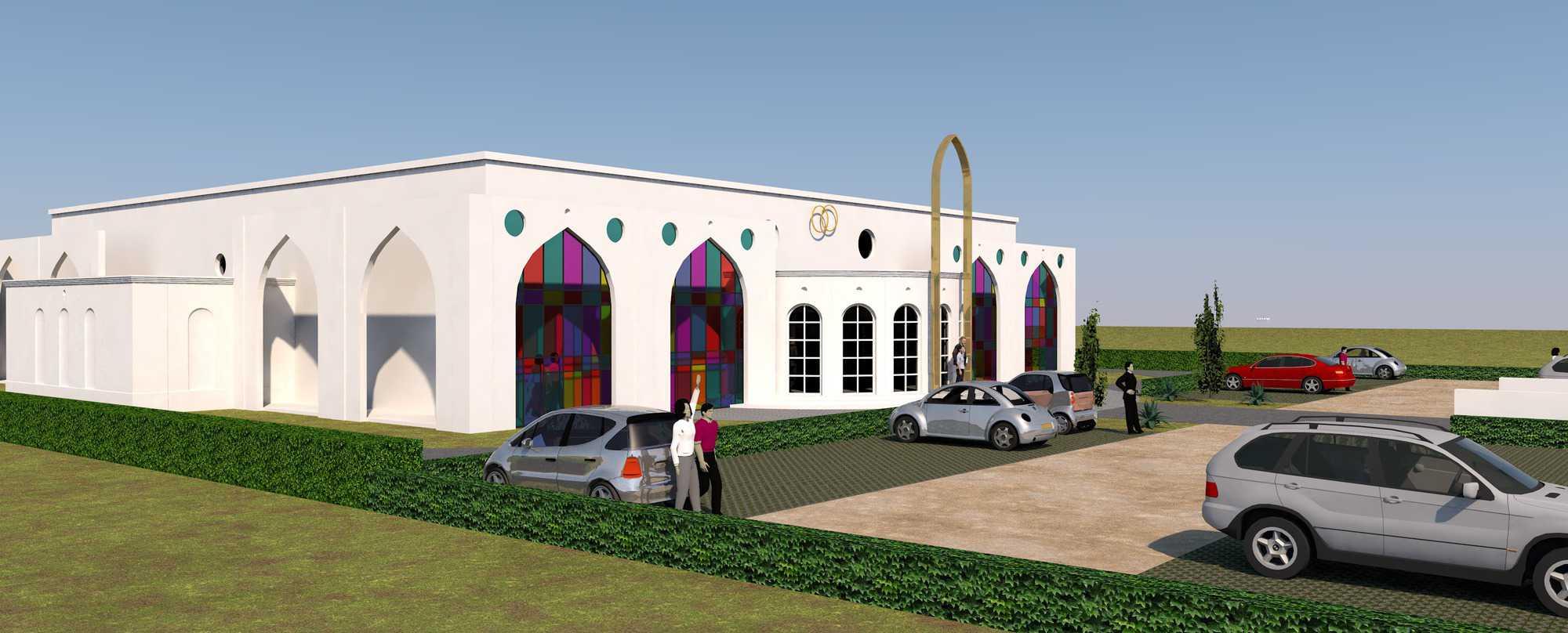 Detail afbeelding 3 van BEJAZ SARAY – ontmoetingscentrum   Ontwerp door architect Patrick Strackx