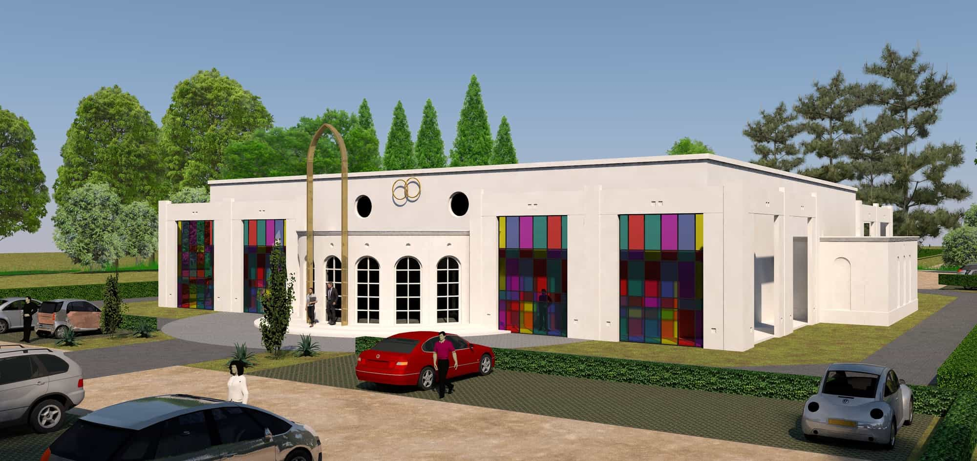 Detail afbeelding 5 van BEJAZ SARAY – ontmoetingscentrum   Ontwerp door architect Patrick Strackx