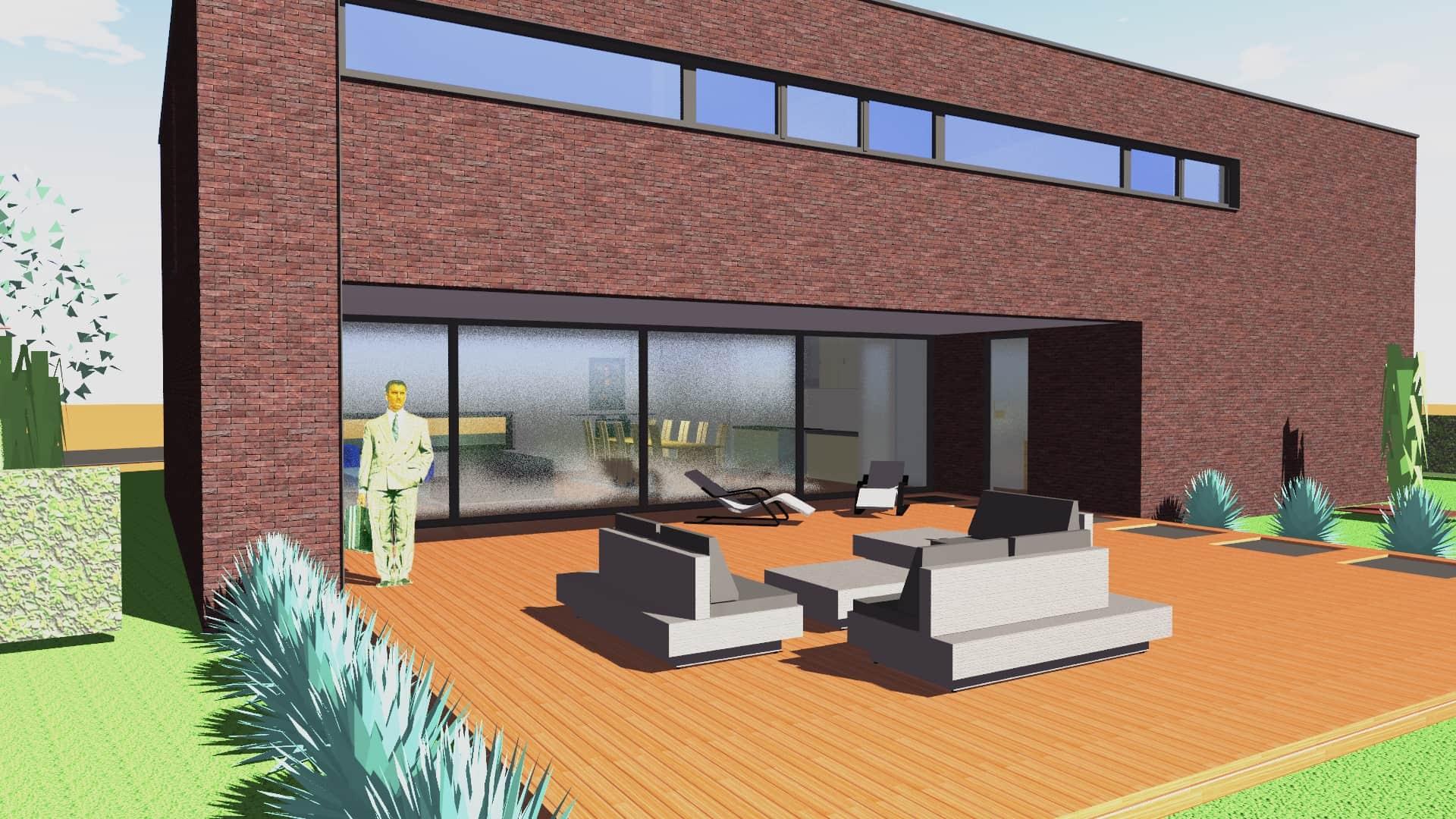 Detail afbeelding 2 van G-C   –   Loft woning – Genk | Ontwerp door architect Patrick Strackx