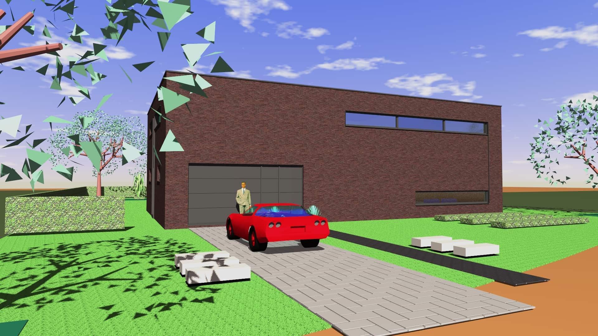 Detail afbeelding 1 van G-C   –   Loft woning – Genk | Ontwerp door architect Patrick Strackx