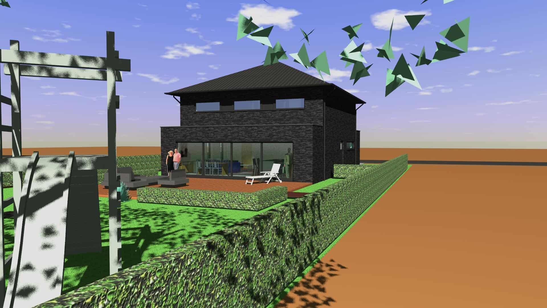Detail afbeelding 2 van C&M   –   Zwart Antraciete woning   –   Genk | Ontwerp door architect Patrick Strackx