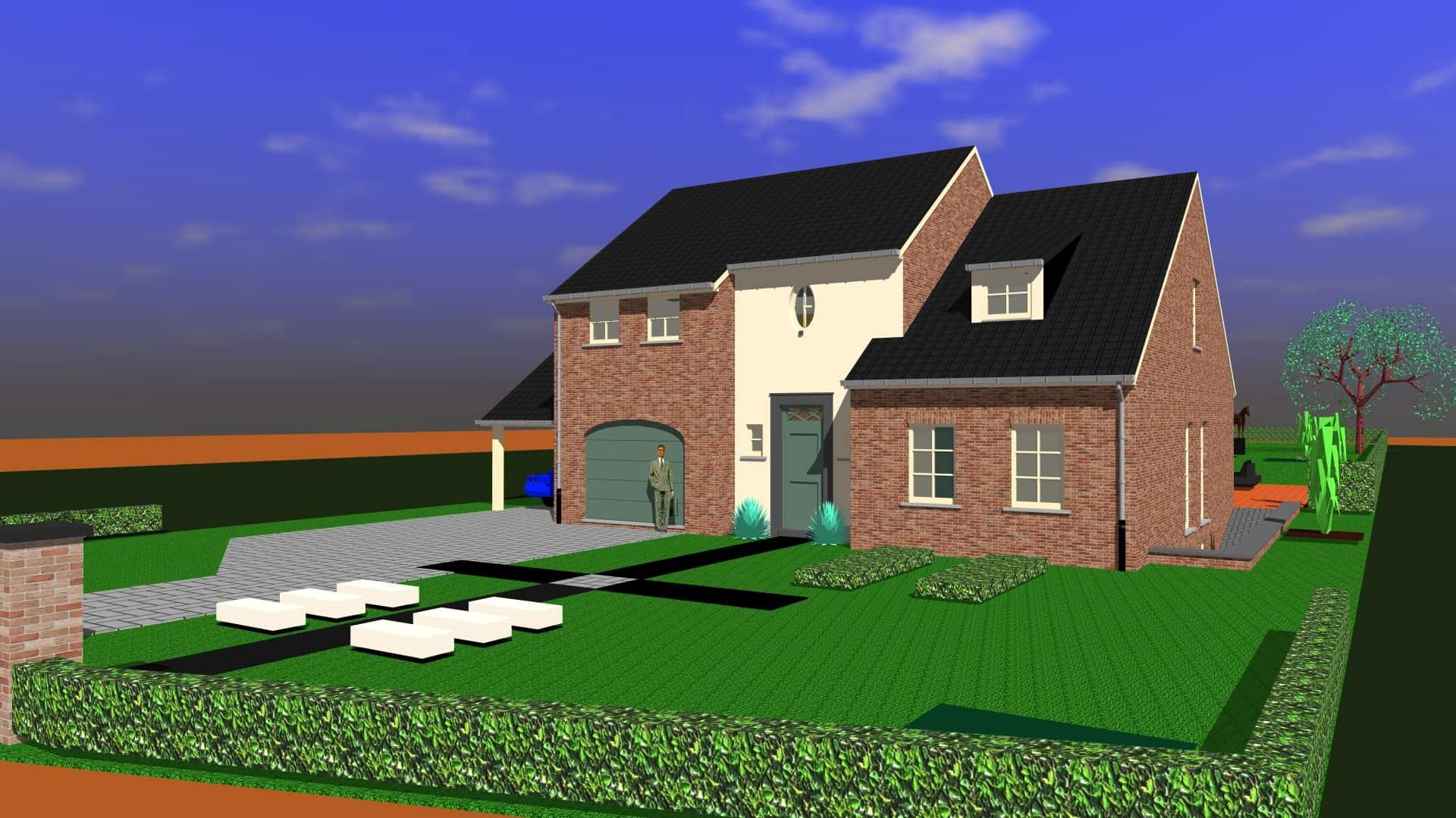 Detail afbeelding 6 van DM   –   Landelijke woning in Pastorij-stijl   –  Wiemismeer | Ontwerp door architect Patrick Strackx