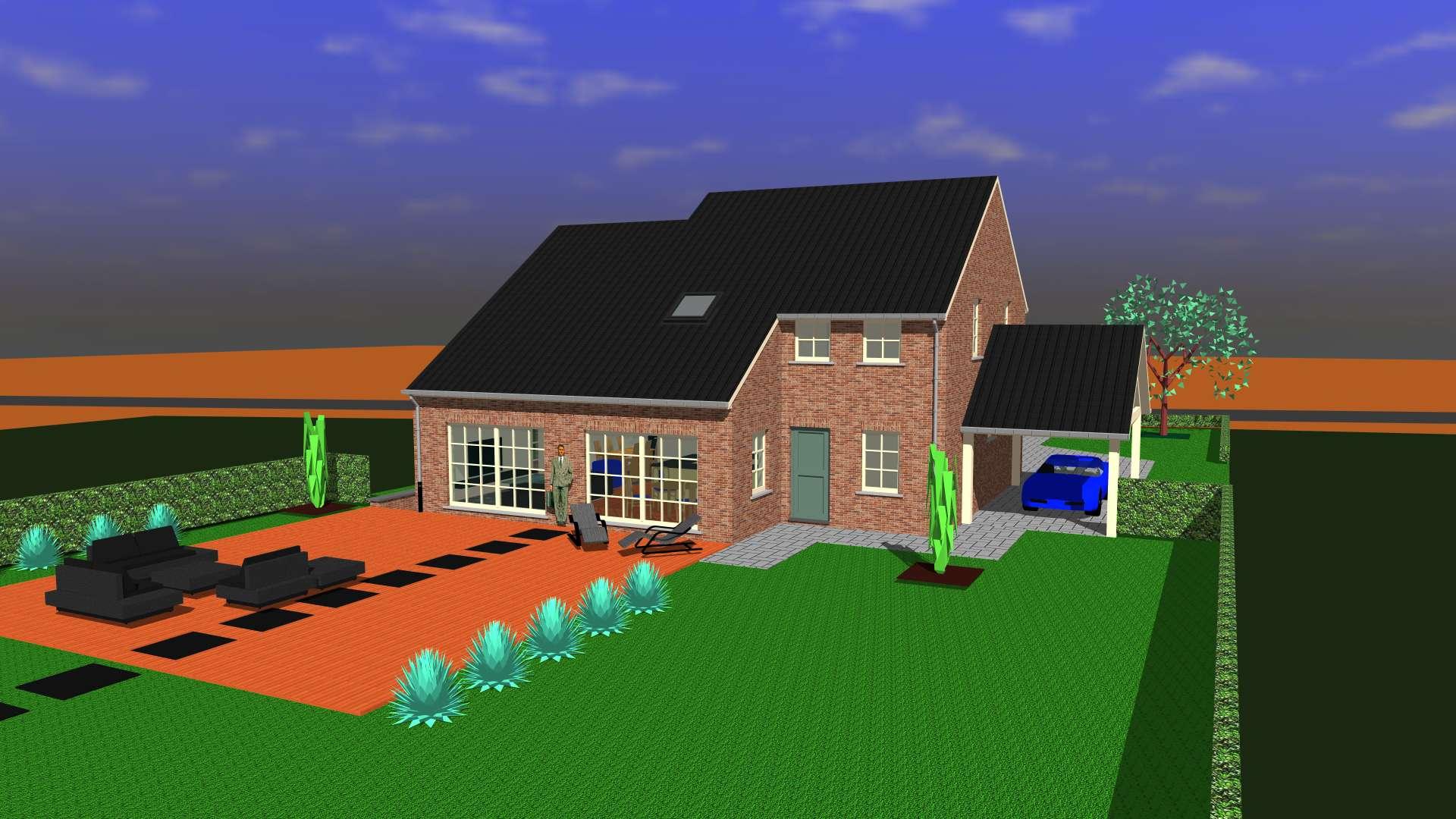 Detail afbeelding 3 van DM   –   Landelijke woning in Pastorij-stijl   –  Wiemismeer | Ontwerp door architect Patrick Strackx