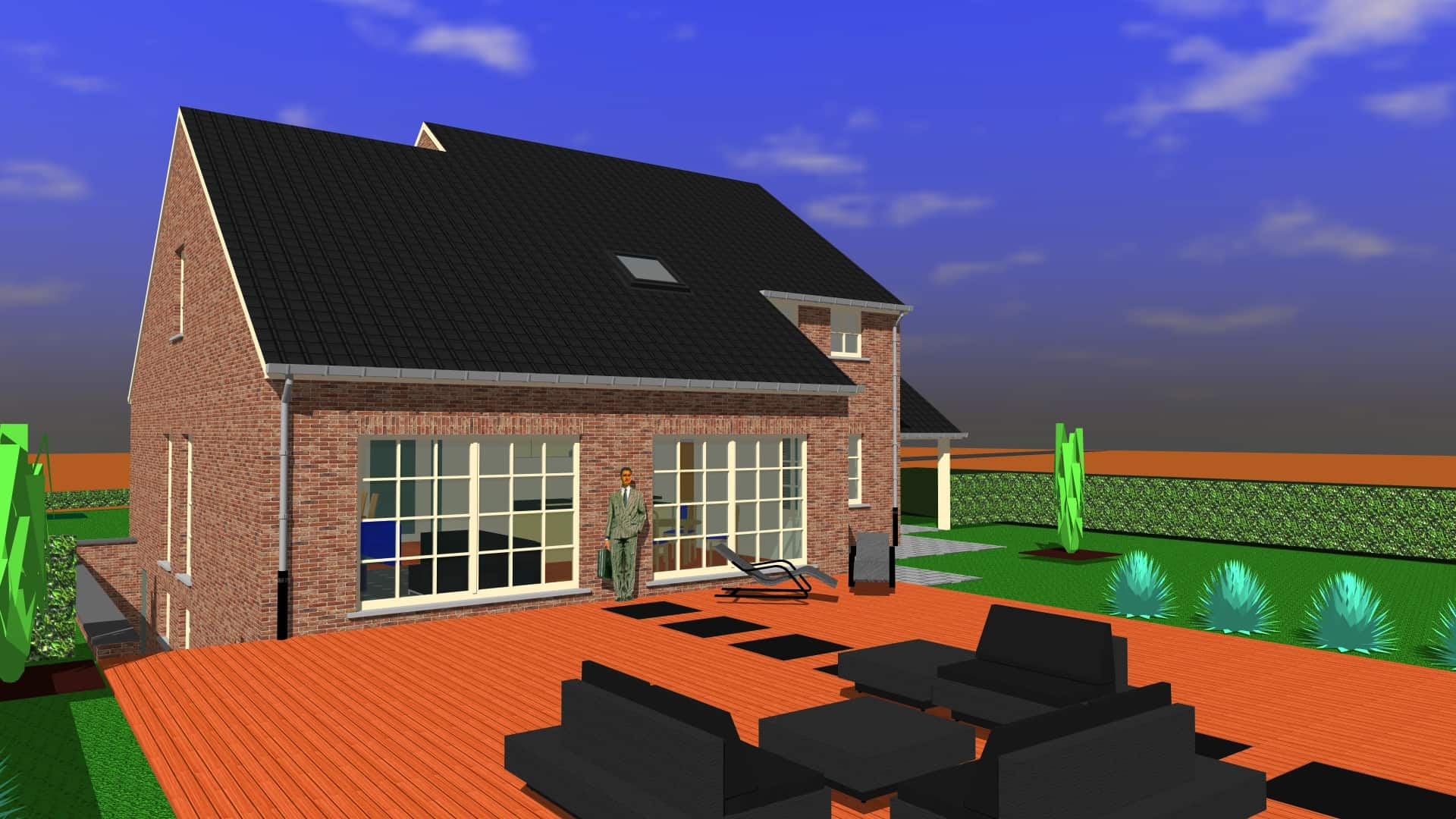 Detail afbeelding 4 van DM   –   Landelijke woning in Pastorij-stijl   –  Wiemismeer | Ontwerp door architect Patrick Strackx