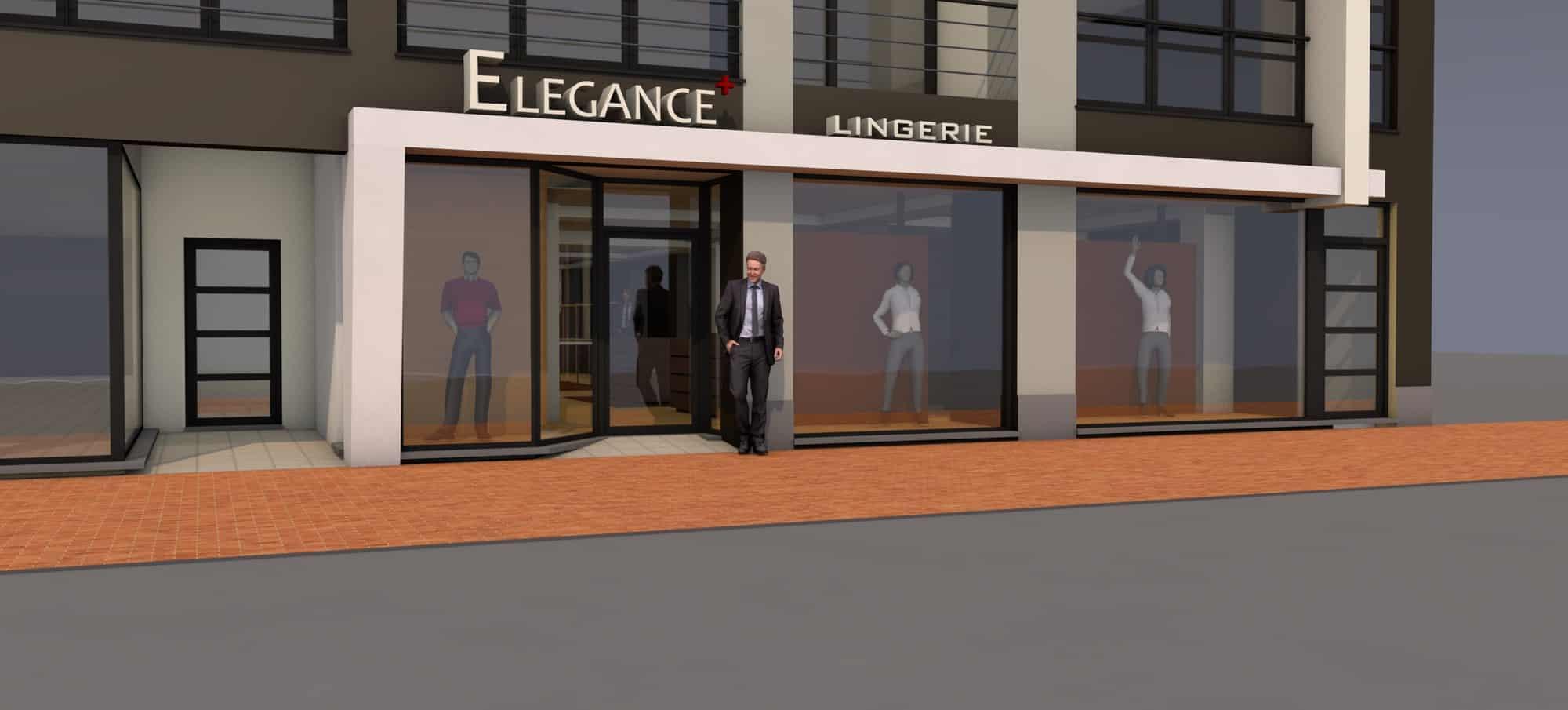Detail afbeelding 1 van Elegance Lingerie Genk | Ontwerp door architect Patrick Strackx