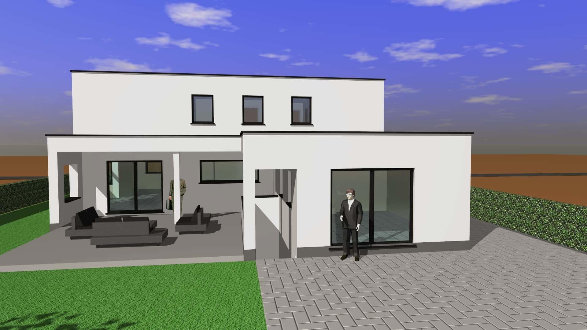 Detail afbeelding 5 van G & S   –   Transformatie Fermette tot Strakke woning   –   Zutendaal | Ontwerp door architect Patrick Strackx