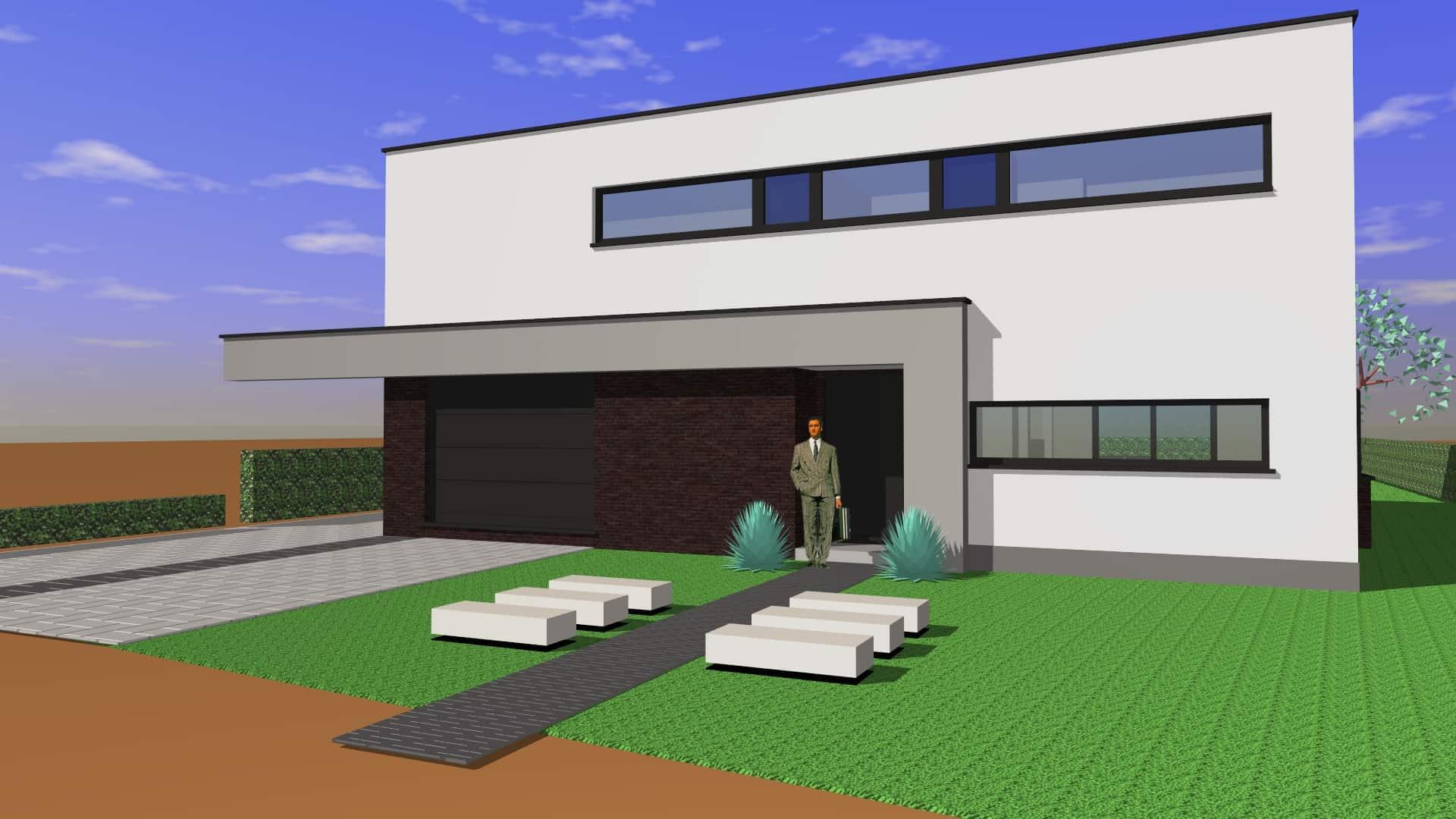 Detail afbeelding 4 van G & S   –   Transformatie Fermette tot Strakke woning   –   Zutendaal | Ontwerp door architect Patrick Strackx
