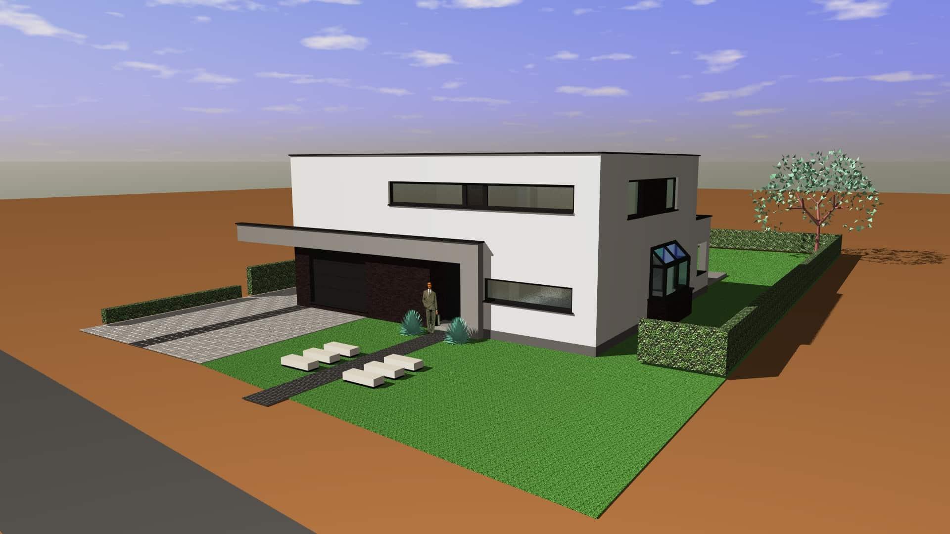 Detail afbeelding 6 van G & S   –   Transformatie Fermette tot Strakke woning   –   Zutendaal | Ontwerp door architect Patrick Strackx