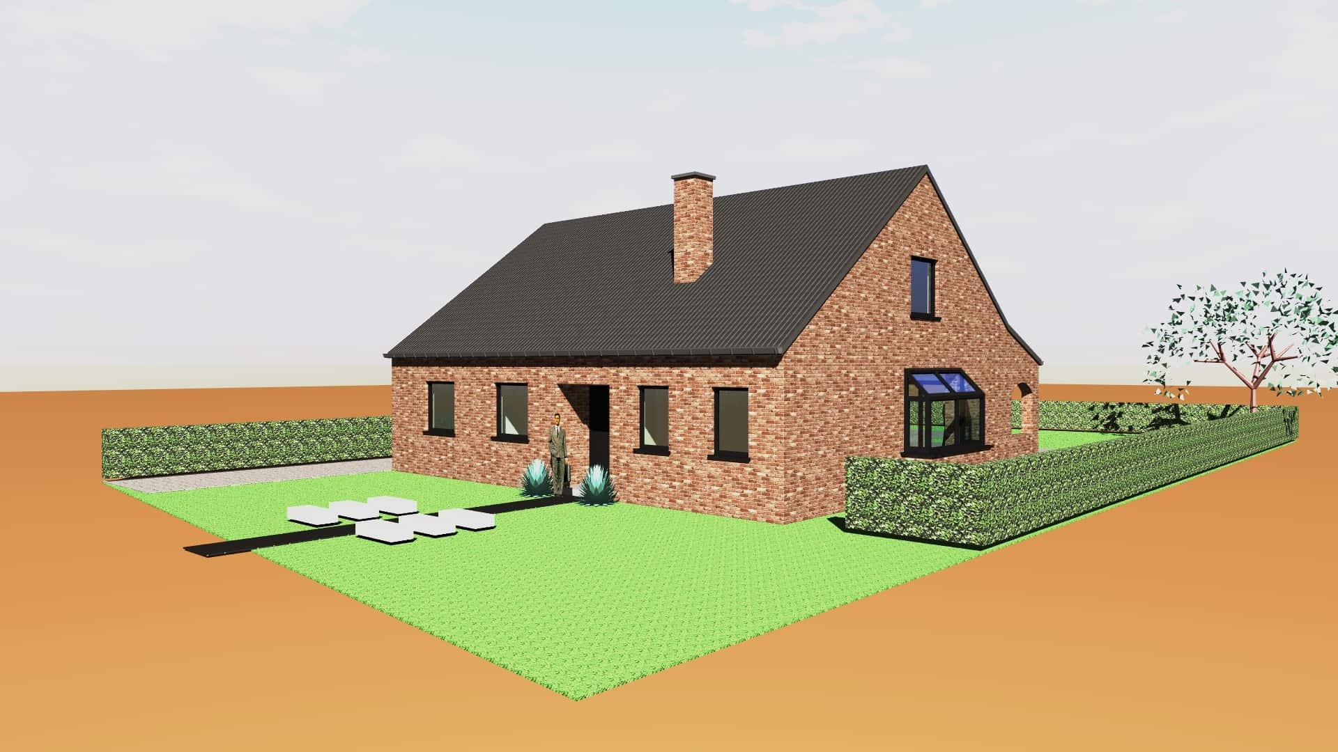 Detail afbeelding 2 van G & S   –   Transformatie Fermette tot Strakke woning   –   Zutendaal | Ontwerp door architect Patrick Strackx