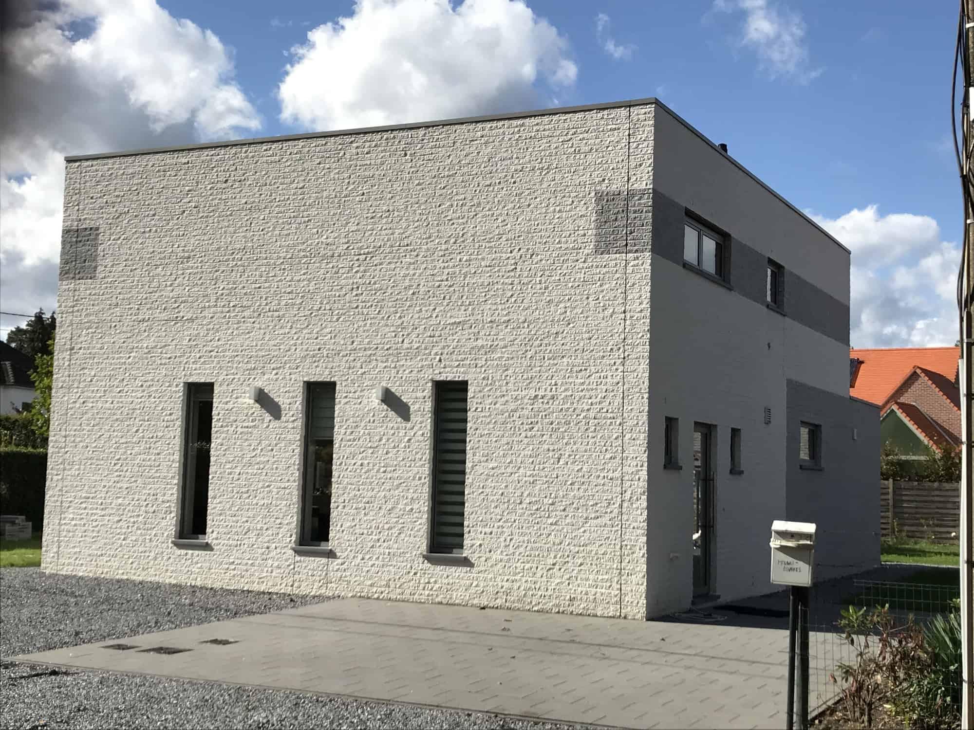 Detail afbeelding 1 van M & L   –   Strakke eenvoudige Gezinswoning – Zutendaal | Ontwerp door architect Patrick Strackx