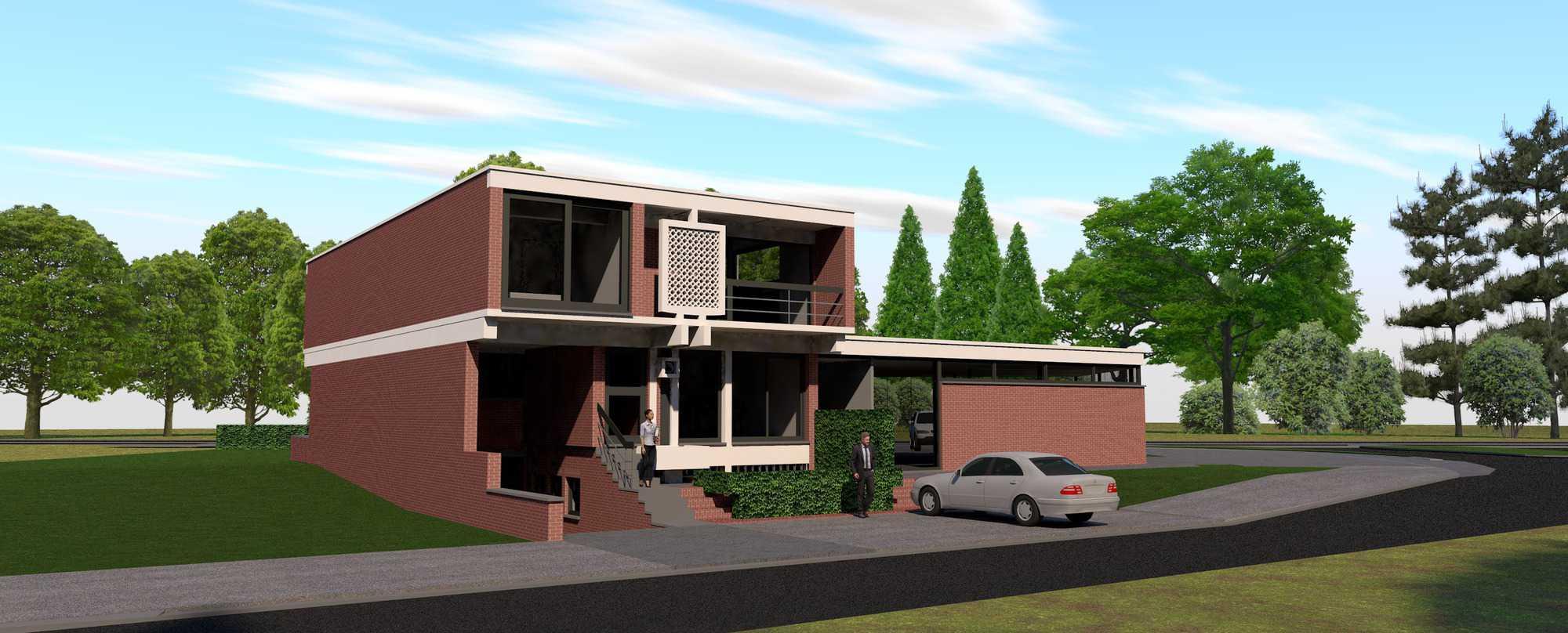 Detail afbeelding 9 van Verbouwing Modernistische Villa | Ontwerp door architect Patrick Strackx