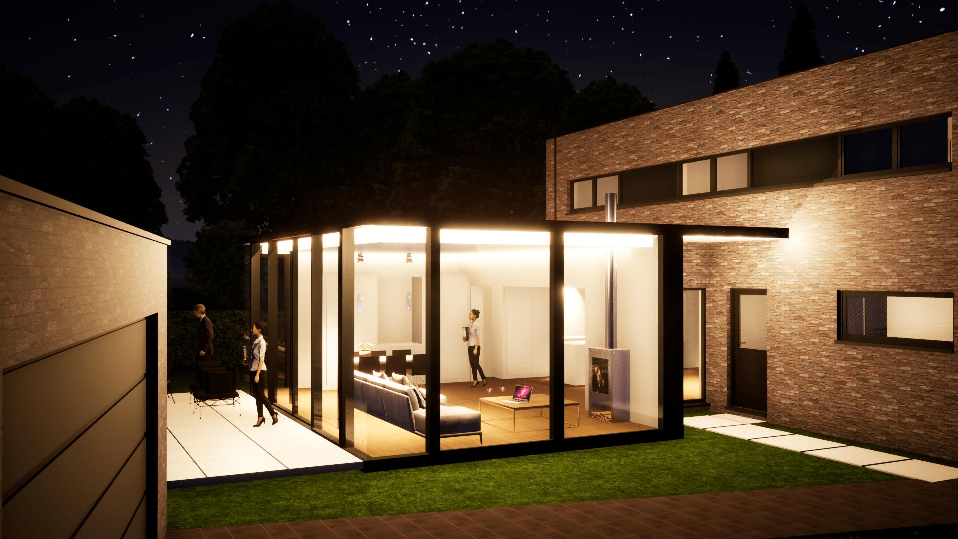 Detail afbeelding 5 van V – M     Uitbreiding met STRAKKE veranda | Ontwerp door architect Patrick Strackx