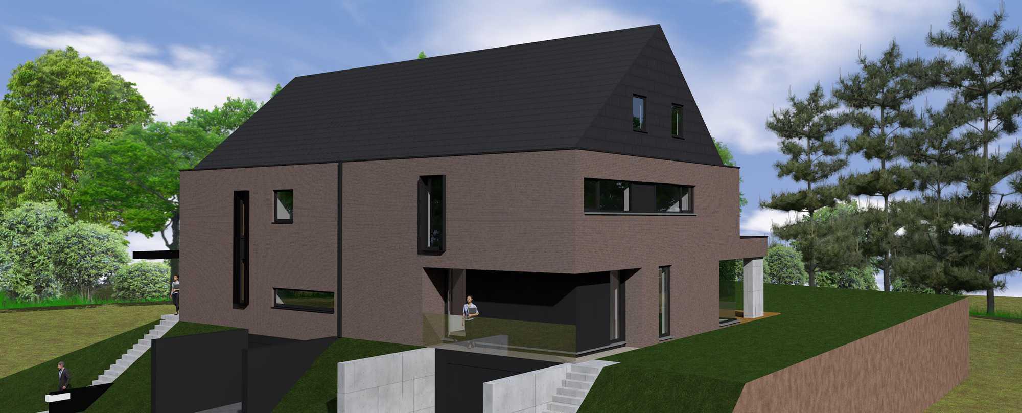 Detail afbeelding 2 van K & K – Strakke meergeneratie woning | Ontwerp door architect Patrick Strackx