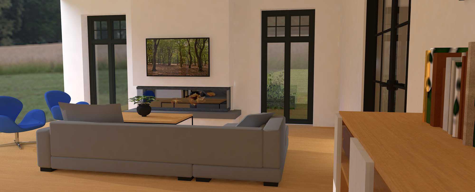 Detail afbeelding 4 van K & S   –   Landhuis met garage   –  Genk | Ontwerp door architect Patrick Strackx