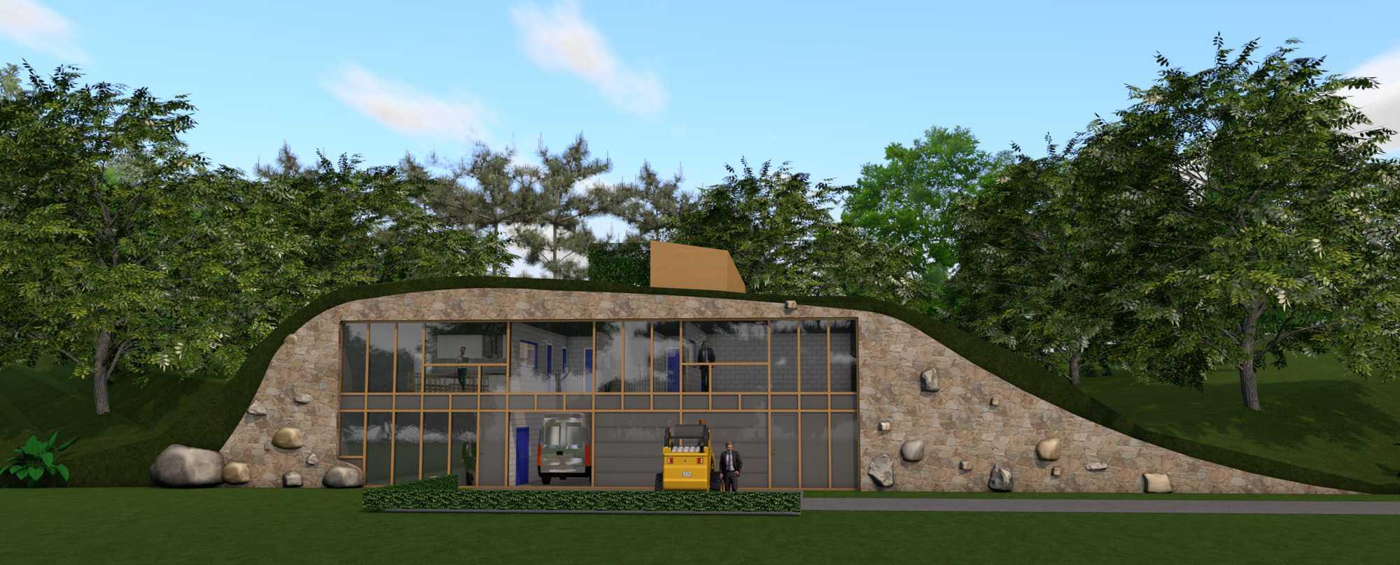 Detail afbeelding 1 van LIETEBERG – Technische dienst – Wedstrijdontwerp + uitvoeringsontwerp | Ontwerp door architect Patrick Strackx