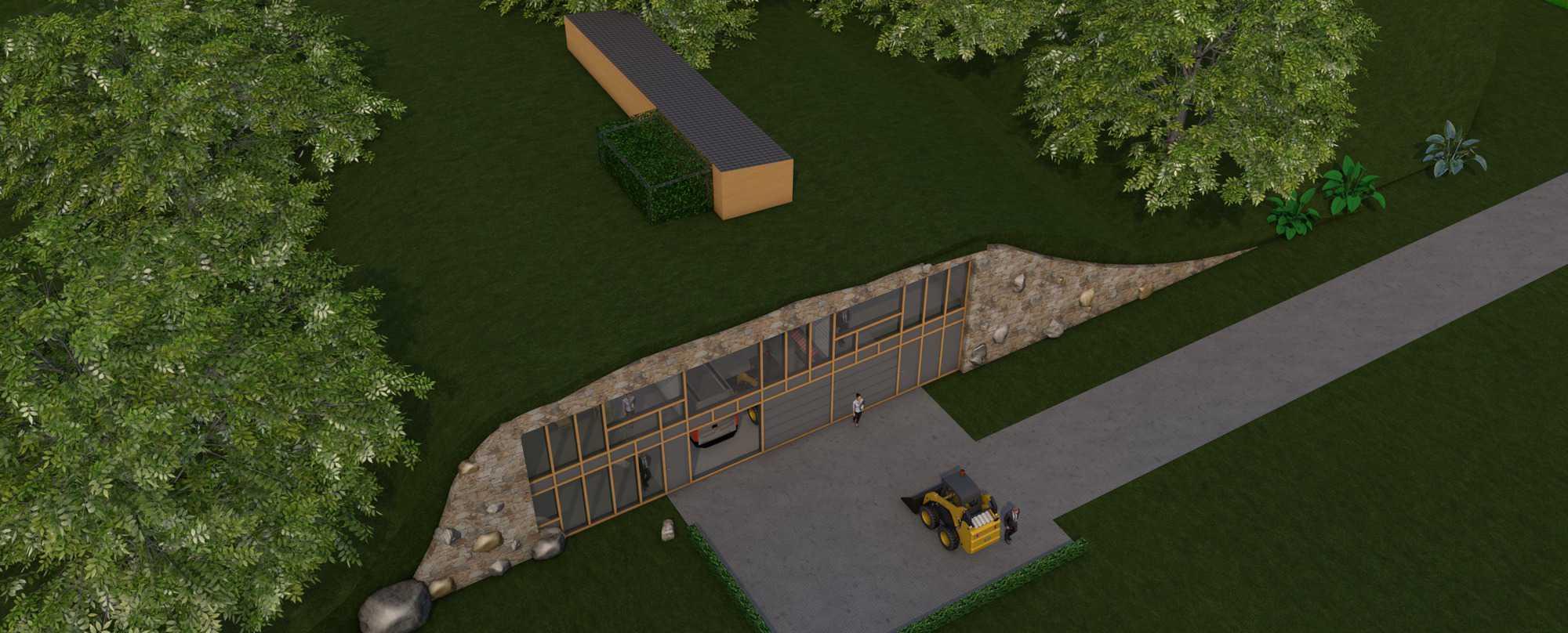 Detail afbeelding 3 van LIETEBERG – Technische dienst – Wedstrijdontwerp + uitvoeringsontwerp | Ontwerp door architect Patrick Strackx