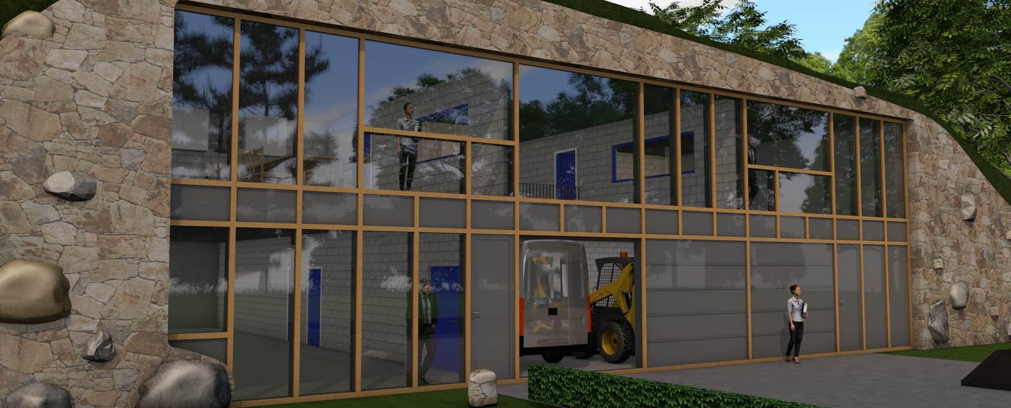 Detail afbeelding 5 van LIETEBERG – Technische dienst – Wedstrijdontwerp + uitvoeringsontwerp | Ontwerp door architect Patrick Strackx