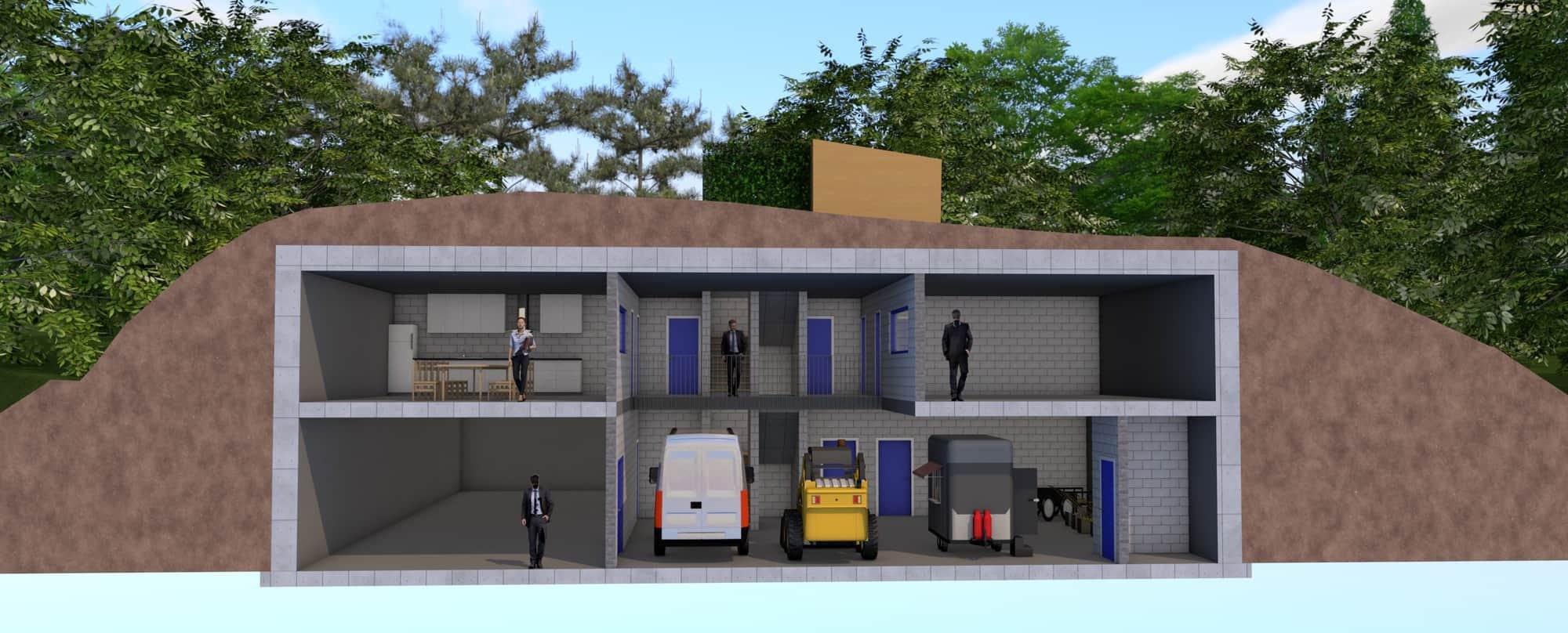 Detail afbeelding 6 van LIETEBERG – Technische dienst – Wedstrijdontwerp + uitvoeringsontwerp | Ontwerp door architect Patrick Strackx