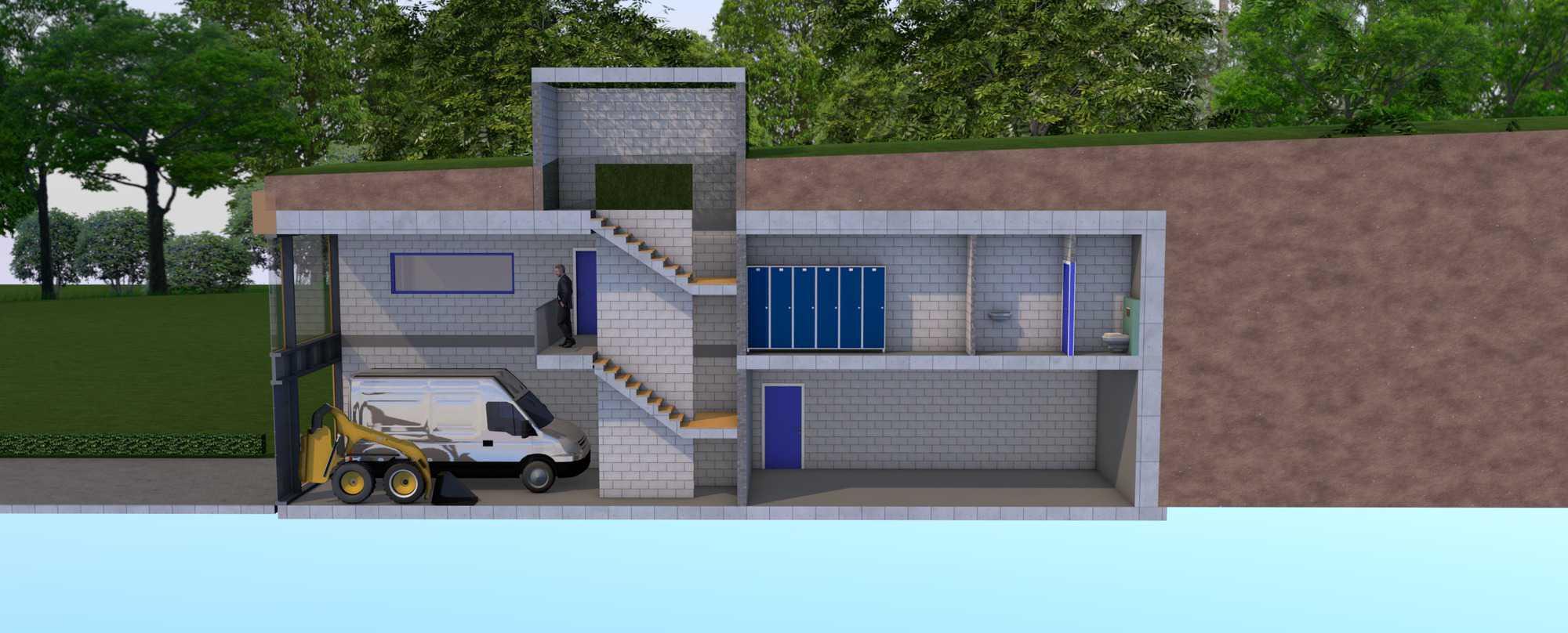 Detail afbeelding 7 van LIETEBERG – Technische dienst – Wedstrijdontwerp + uitvoeringsontwerp | Ontwerp door architect Patrick Strackx