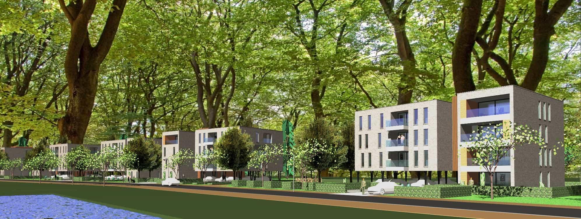 Detail afbeelding 5 van VO – BE   –   48 Appartementen tussen de bomen   –   Zonhoven | Ontwerp door architect Patrick Strackx