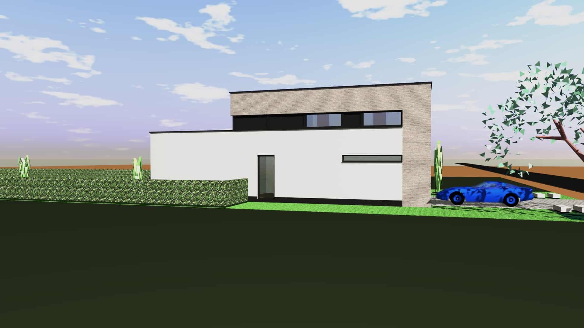 Detail afbeelding 4 van M & C   –   Strakke Gezinswoning   –   Wiemismeer Zutendaal | Ontwerp door architect Patrick Strackx