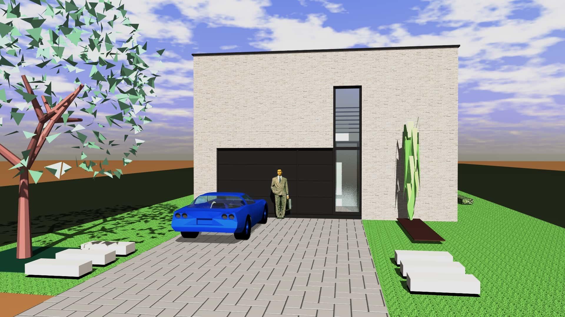 Detail afbeelding 5 van M & C   –   Strakke Gezinswoning   –   Wiemismeer Zutendaal | Ontwerp door architect Patrick Strackx