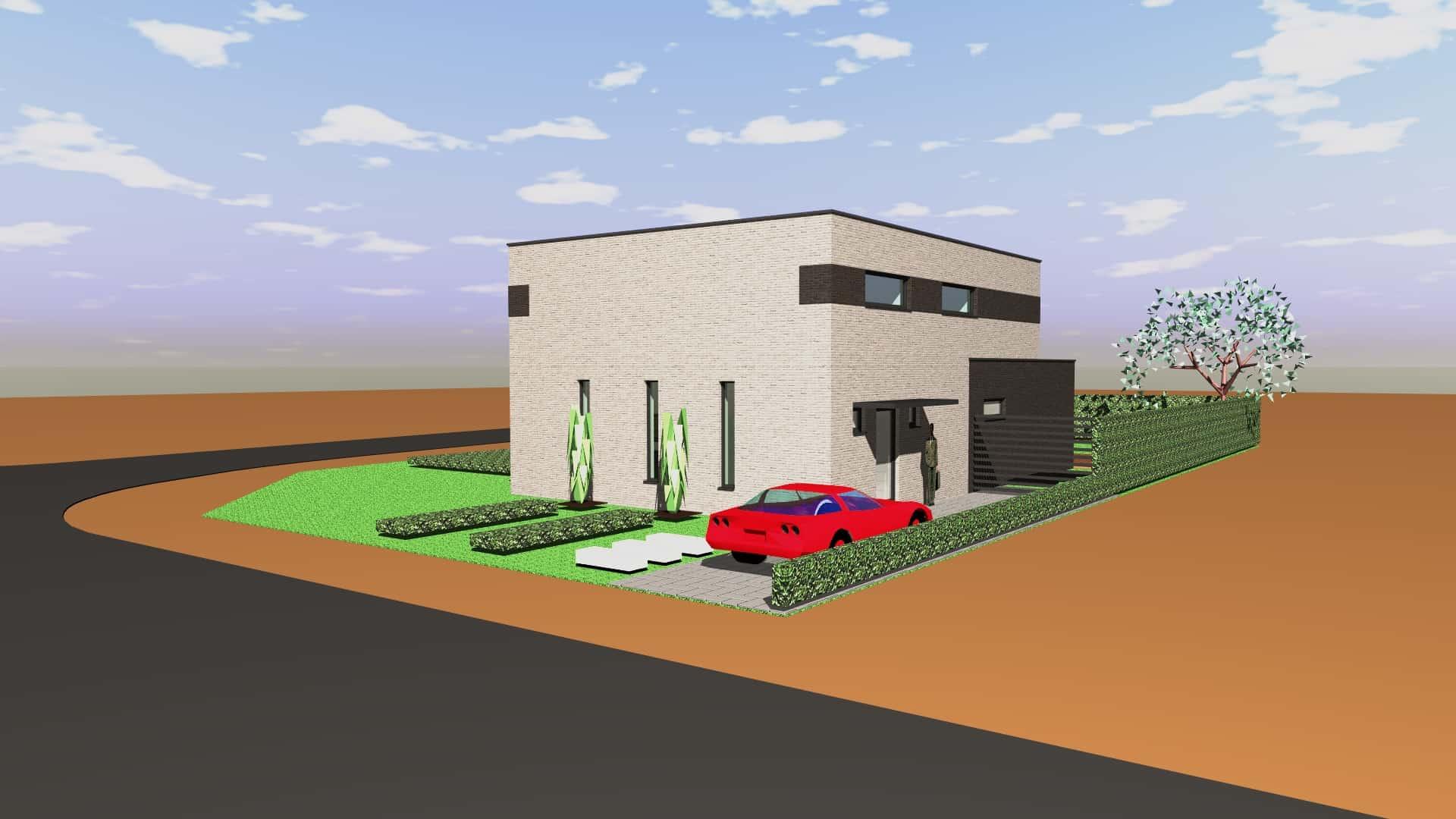 Detail afbeelding 6 van M & L   –   Strakke eenvoudige Gezinswoning – Zutendaal | Ontwerp door architect Patrick Strackx