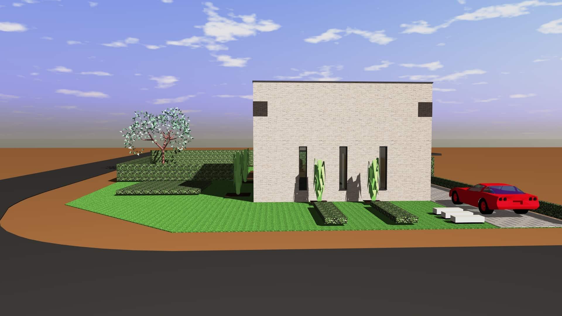 Detail afbeelding 5 van M & L   –   Strakke eenvoudige Gezinswoning – Zutendaal | Ontwerp door architect Patrick Strackx