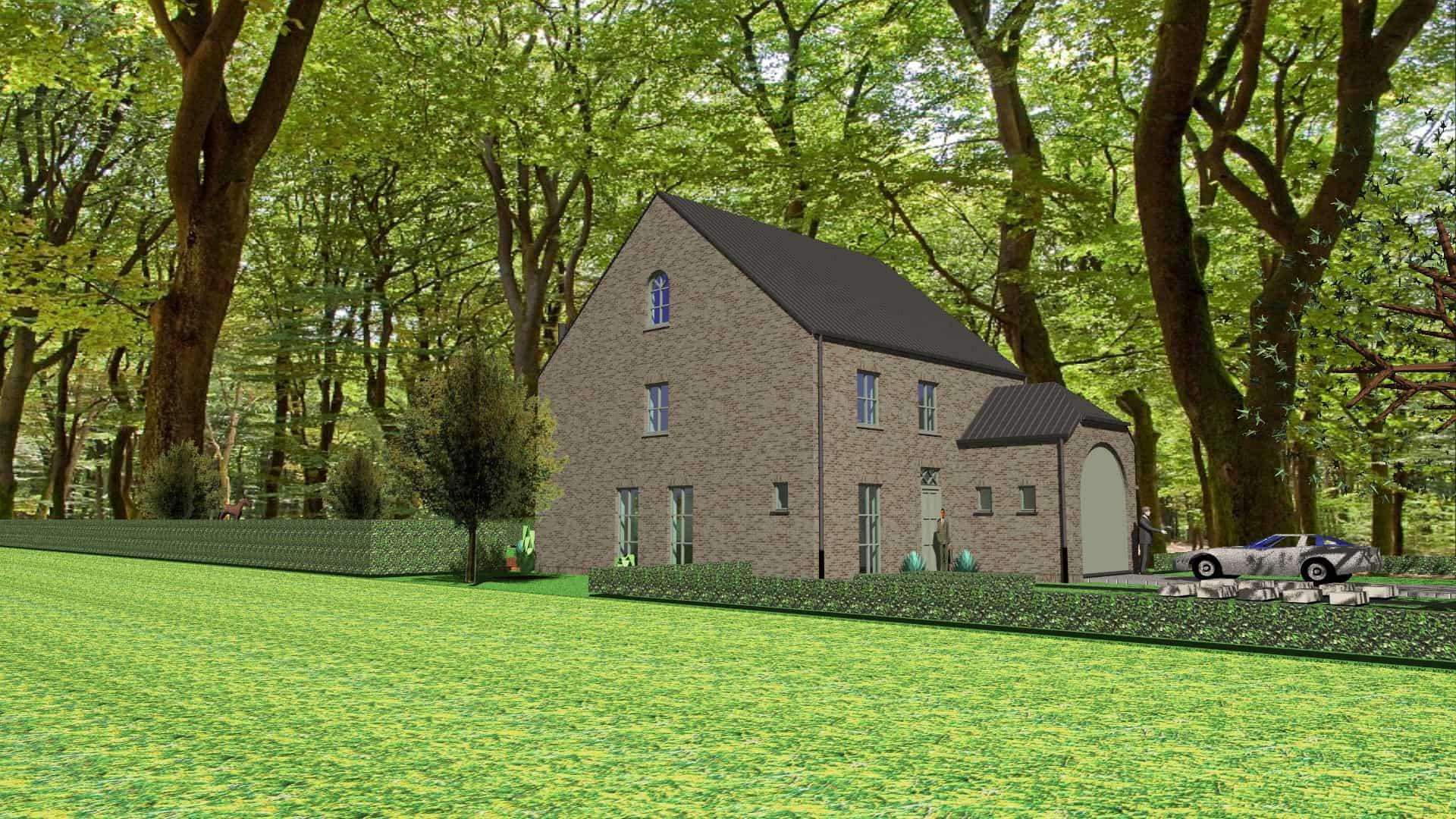 Detail afbeelding 2 van M & M   –   Landelijke herenhuis – Genk | Ontwerp door architect Patrick Strackx
