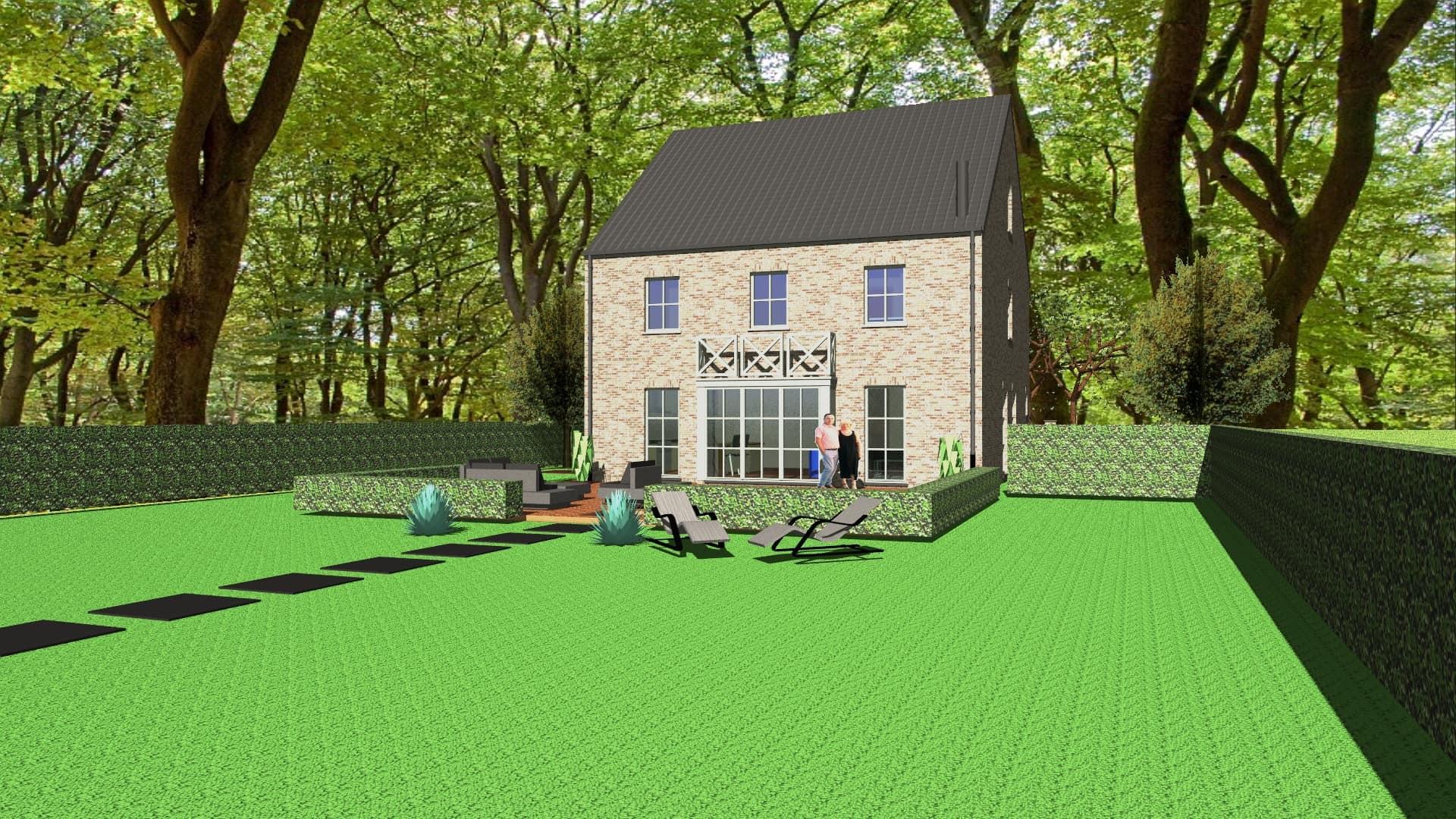 Detail afbeelding 3 van M & M   –   Landelijke herenhuis – Genk | Ontwerp door architect Patrick Strackx