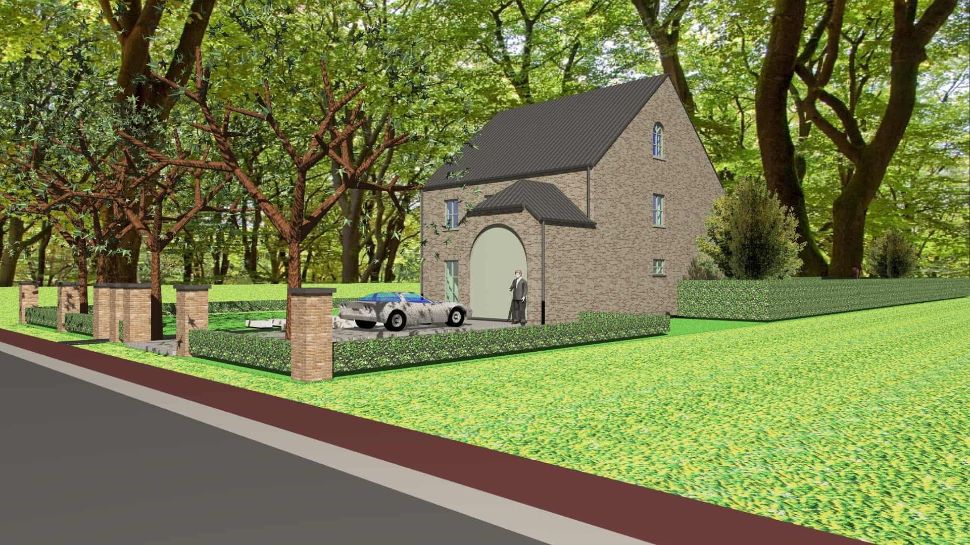 Detail afbeelding 1 van M & M   –   Landelijke herenhuis – Genk | Ontwerp door architect Patrick Strackx