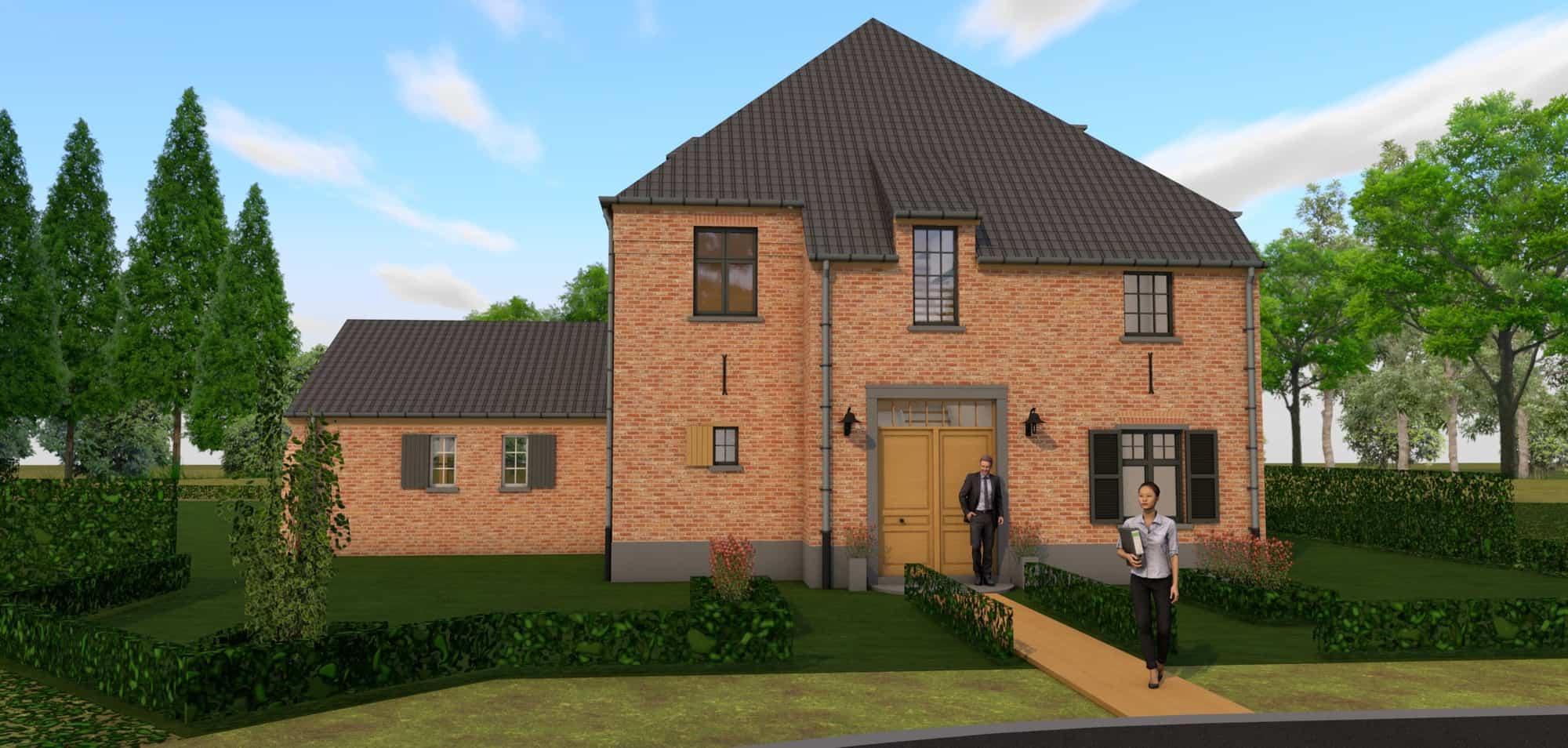 Detail afbeelding 2 van P & B  –  Landelijke woning – High Dutch | Ontwerp door architect Patrick Strackx