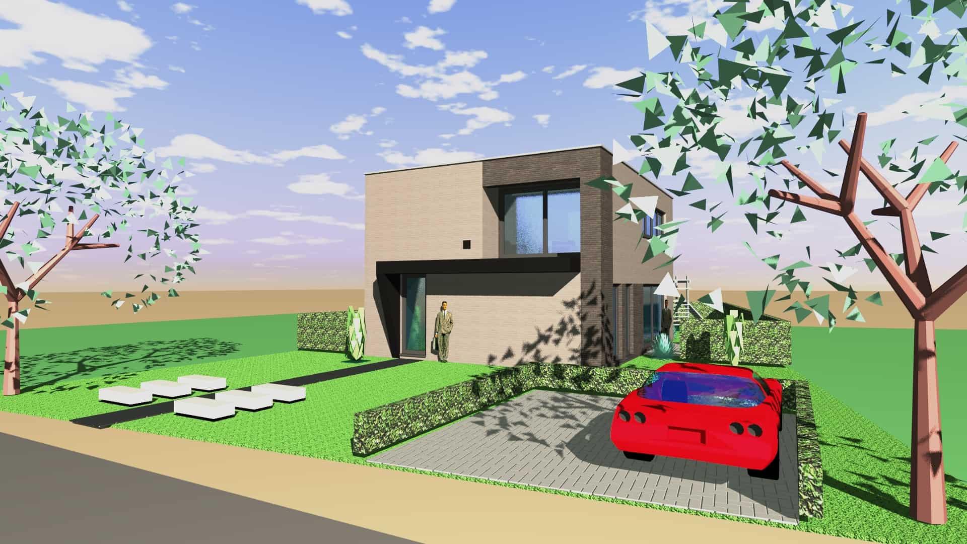 Detail afbeelding 5 van Tweewoonst    –   Zutendaal   –  NR | Ontwerp door architect Patrick Strackx