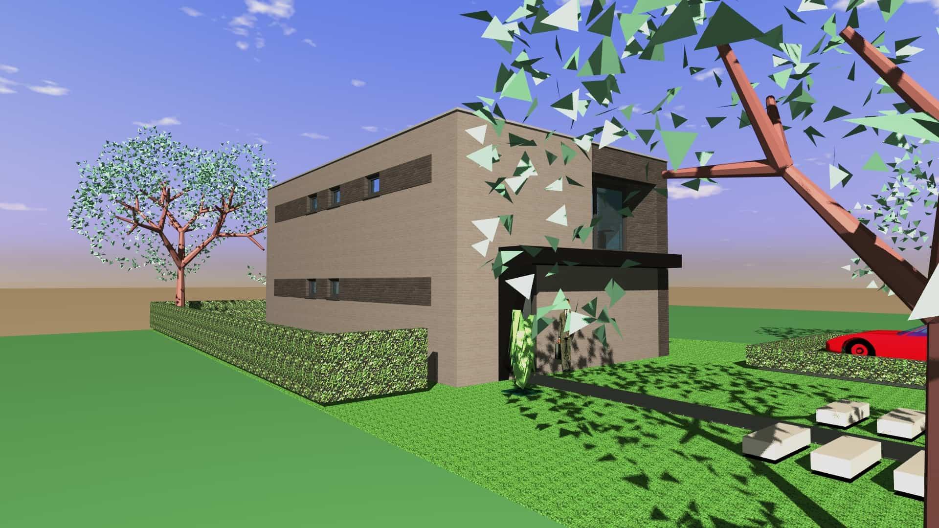 Detail afbeelding 4 van Tweewoonst    –   Zutendaal   –  NR | Ontwerp door architect Patrick Strackx