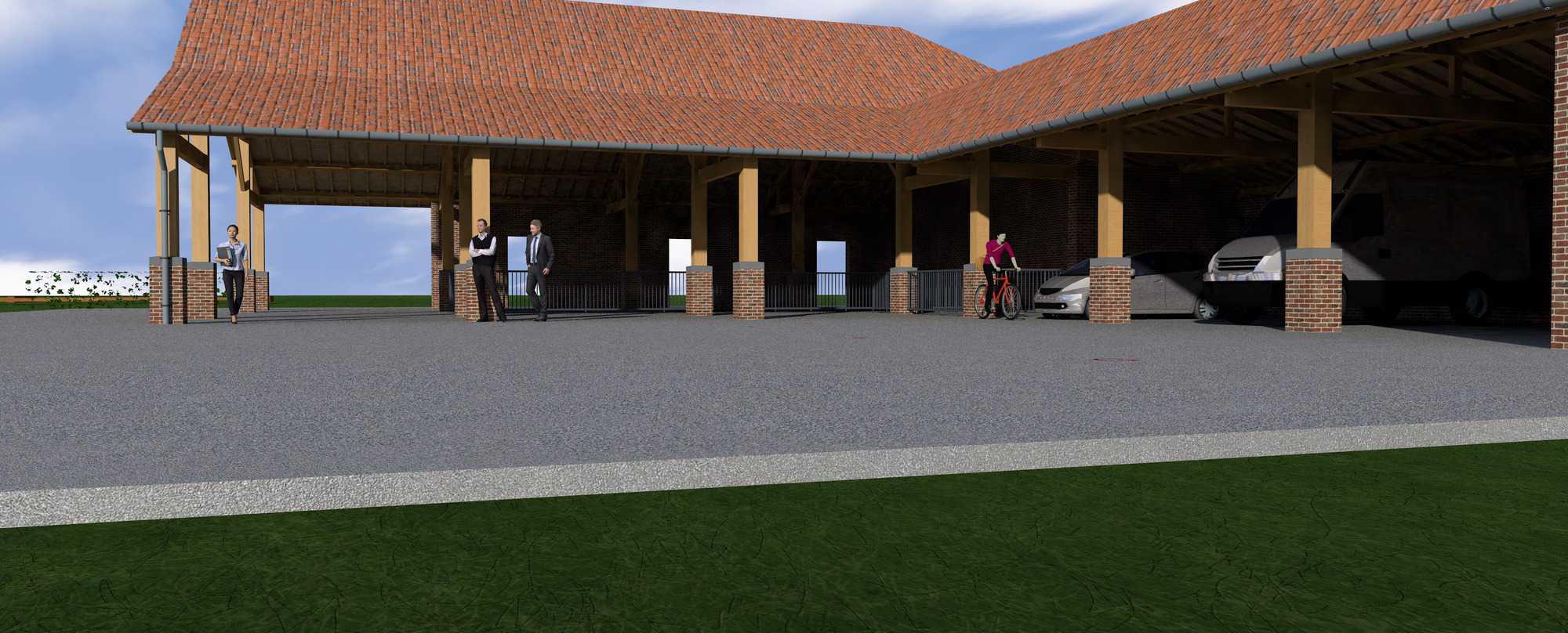 Detail afbeelding 1 van S & C   –   Tiendenschuur   –  Wiemismeer | Ontwerp door architect Patrick Strackx