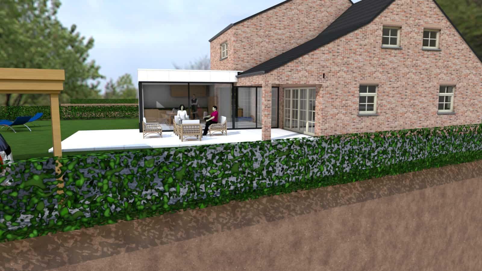 Detail afbeelding 3 van S & F   –   Uitbreiding woning   –   Opoeteren | Ontwerp door architect Patrick Strackx