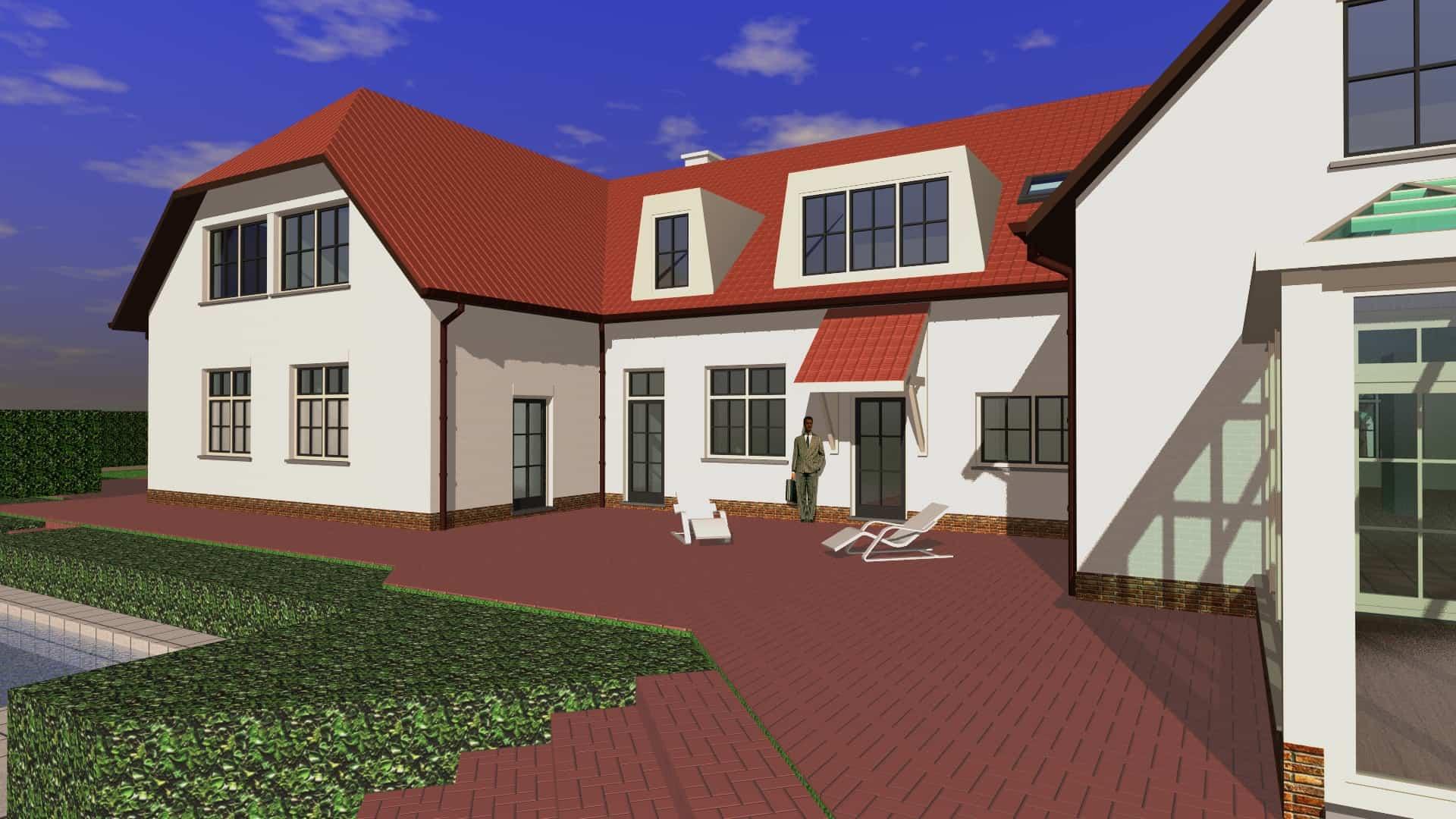 Detail afbeelding 3 van S   –   Verbouwing en uitbreiding Villa   –   Lanaken | Ontwerp door architect Patrick Strackx