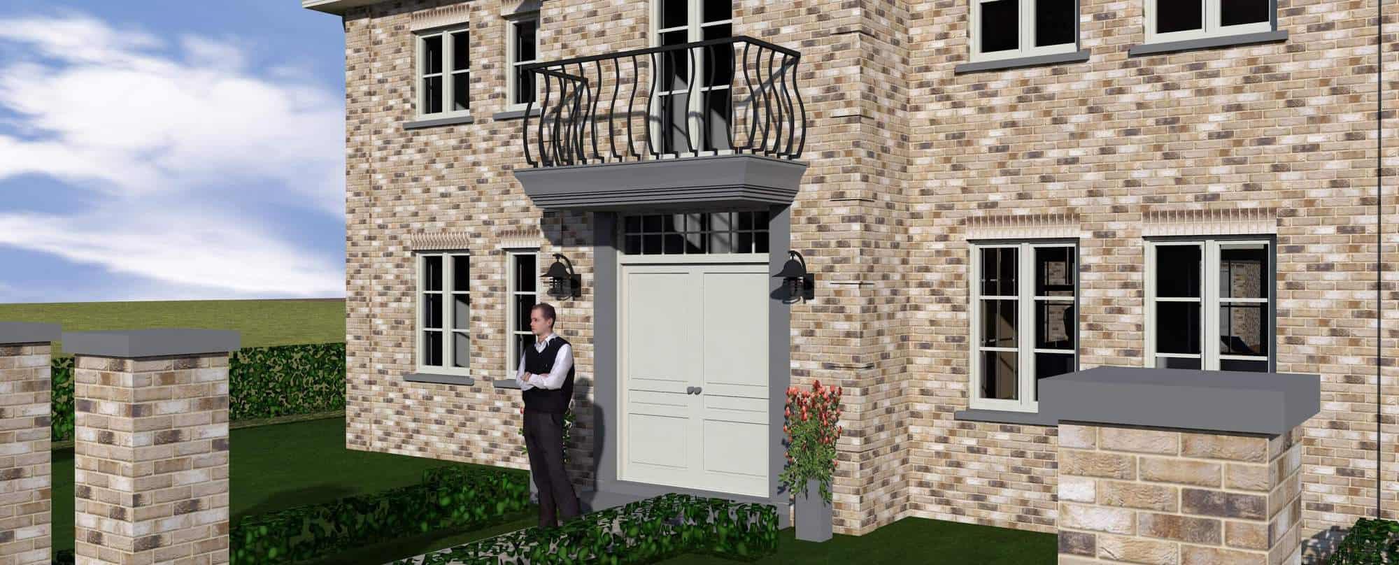 Detail afbeelding 3 van V & C   –   Manoir woning + praktijk verloskundige   –   Bochelt | Ontwerp door architect Patrick Strackx