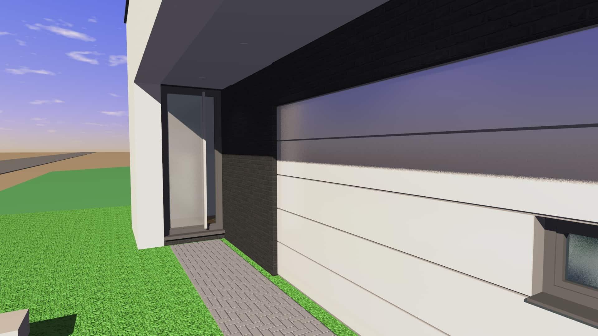 Detail afbeelding 1 van VM   –    Strakke Gezinswoning    –   Maasmechelen | Ontwerp door architect Patrick Strackx