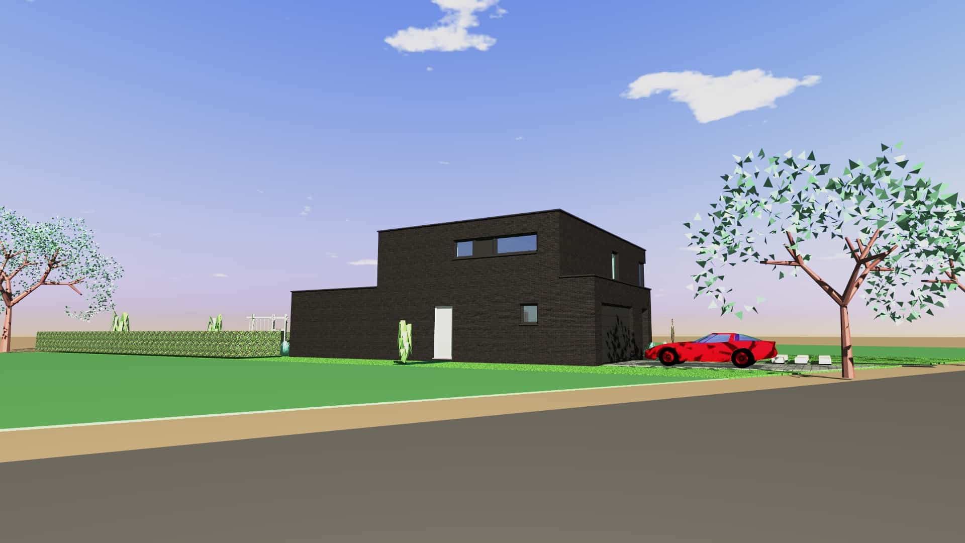 Detail afbeelding 5 van V & S   –   Strakke zwarte woning   –   Zutendaal | Ontwerp door architect Patrick Strackx