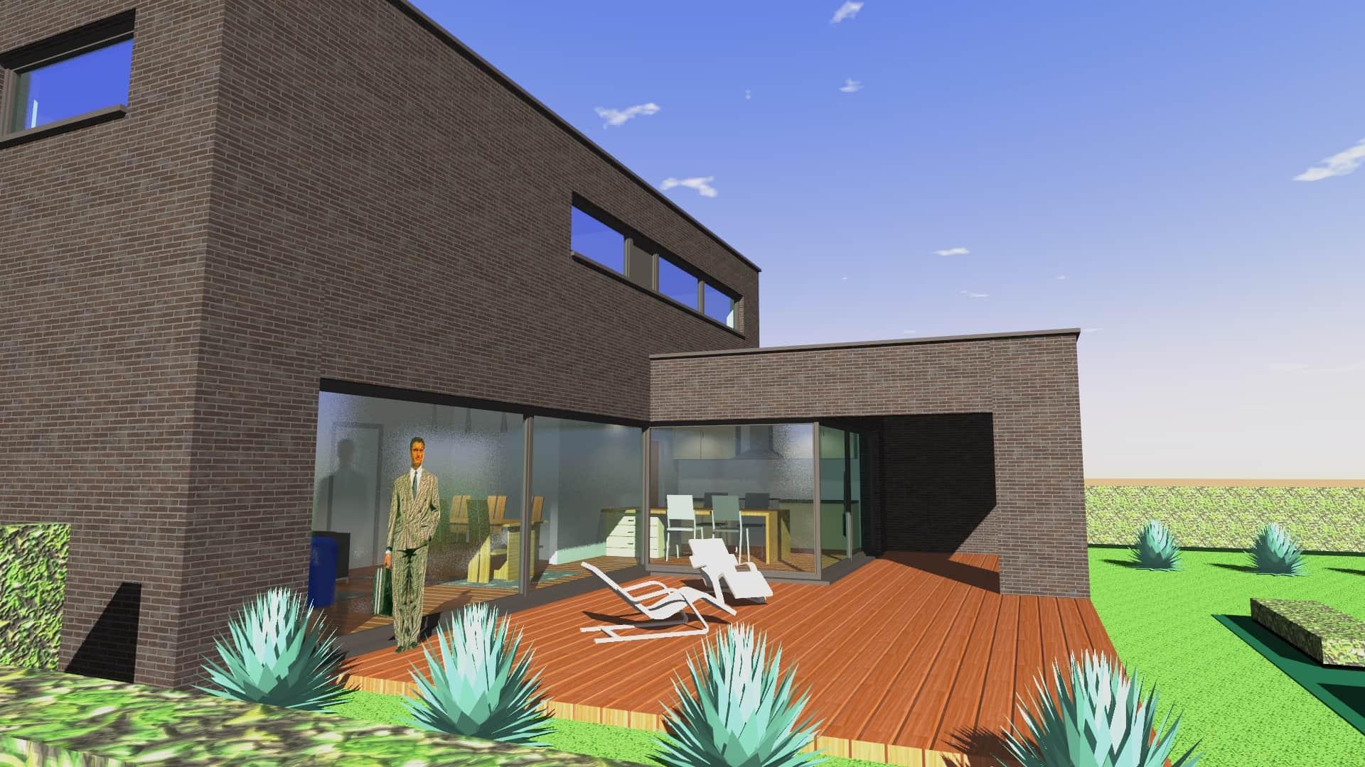 Detail afbeelding 6 van V & S   –   Strakke zwarte woning   –   Zutendaal | Ontwerp door architect Patrick Strackx