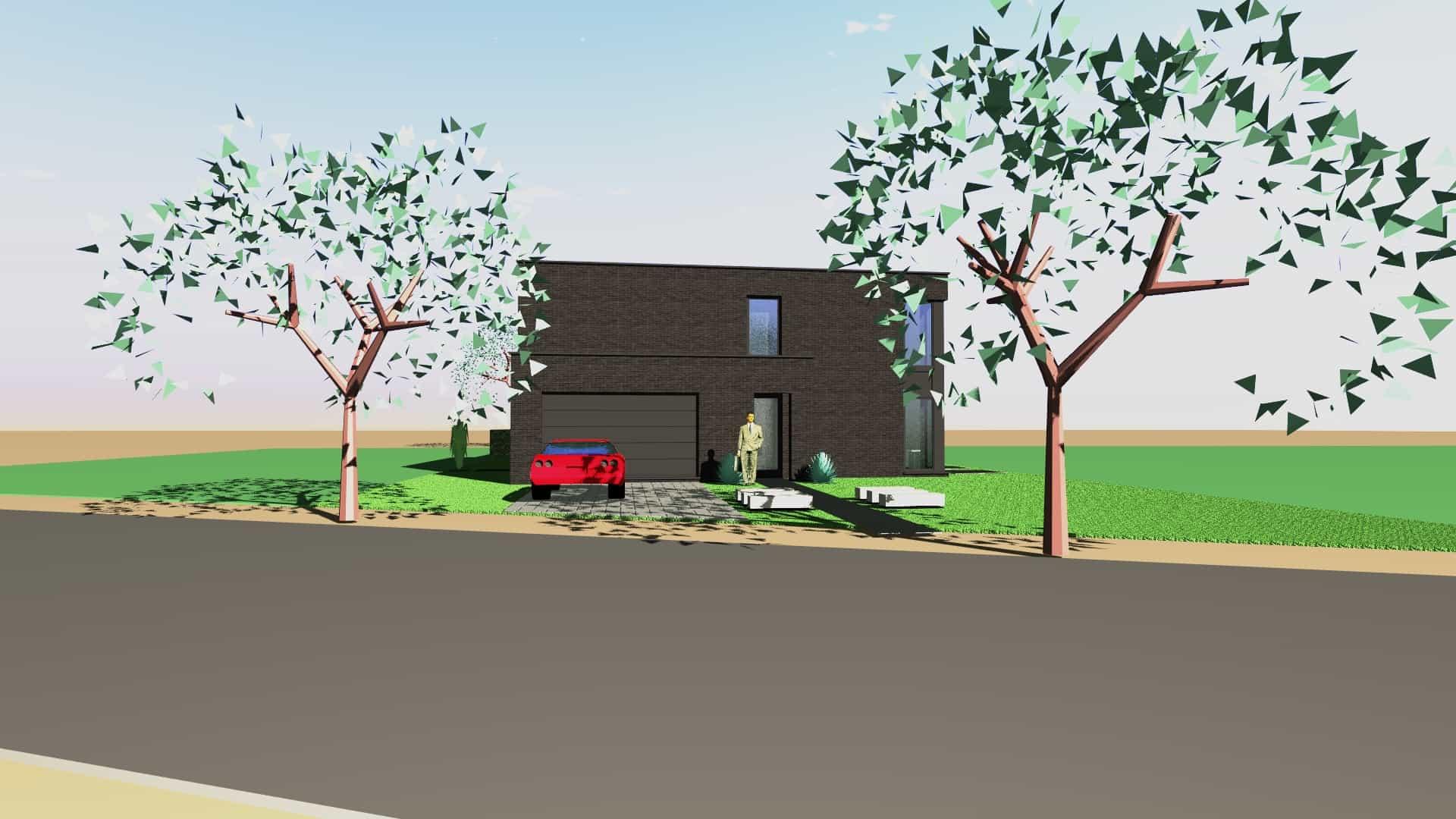 Detail afbeelding 4 van V & S   –   Strakke zwarte woning   –   Zutendaal | Ontwerp door architect Patrick Strackx